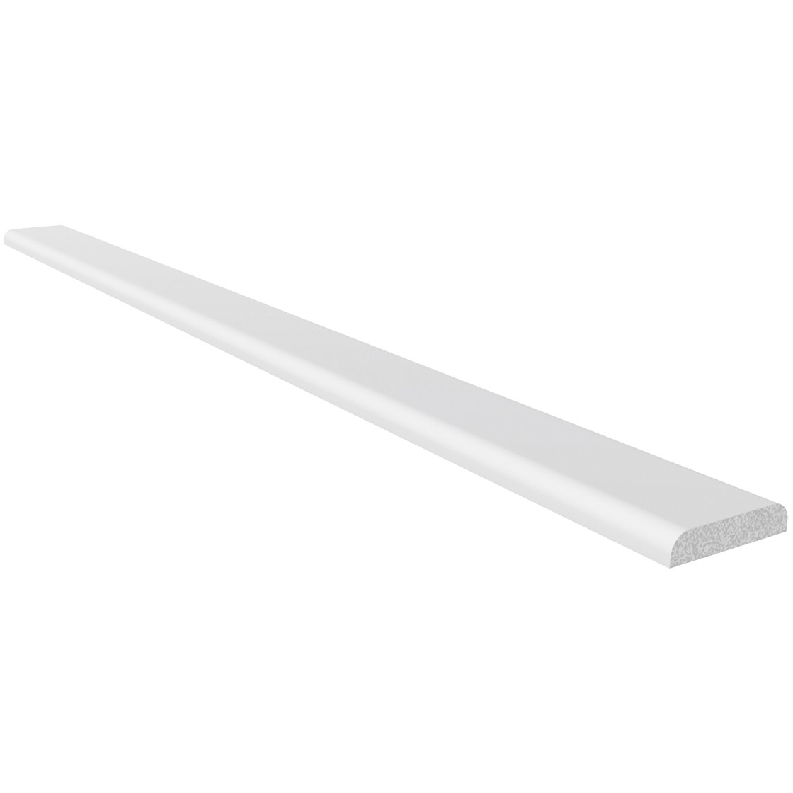 Freefoam Plastic D Shape Window Trim (1.25 metre x 4) - White, 28mm
