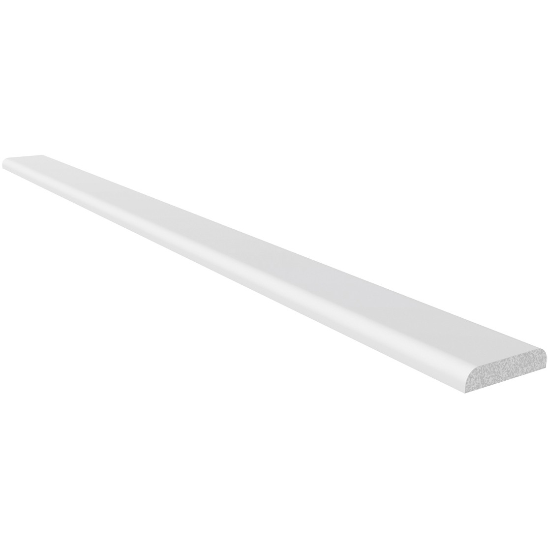 Freefoam Plastic D Shape Window Trim - White, 28mm, 5 metre
