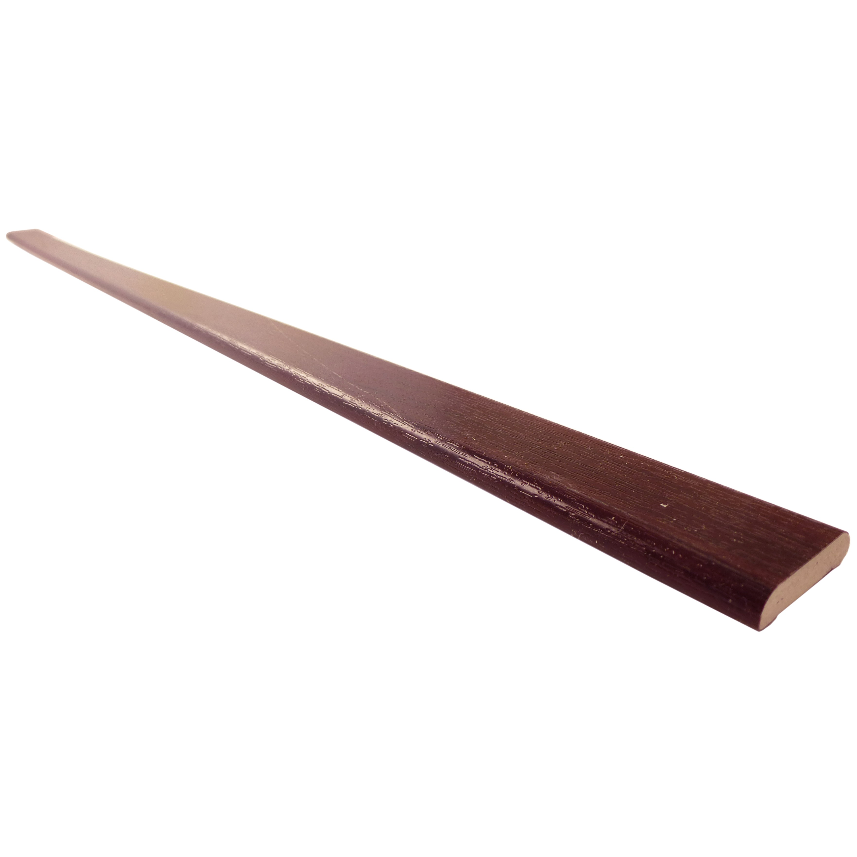 Freefoam Plastic D Shape Window Trim - Woodgrain Rosewood, 28mm, 5 metre