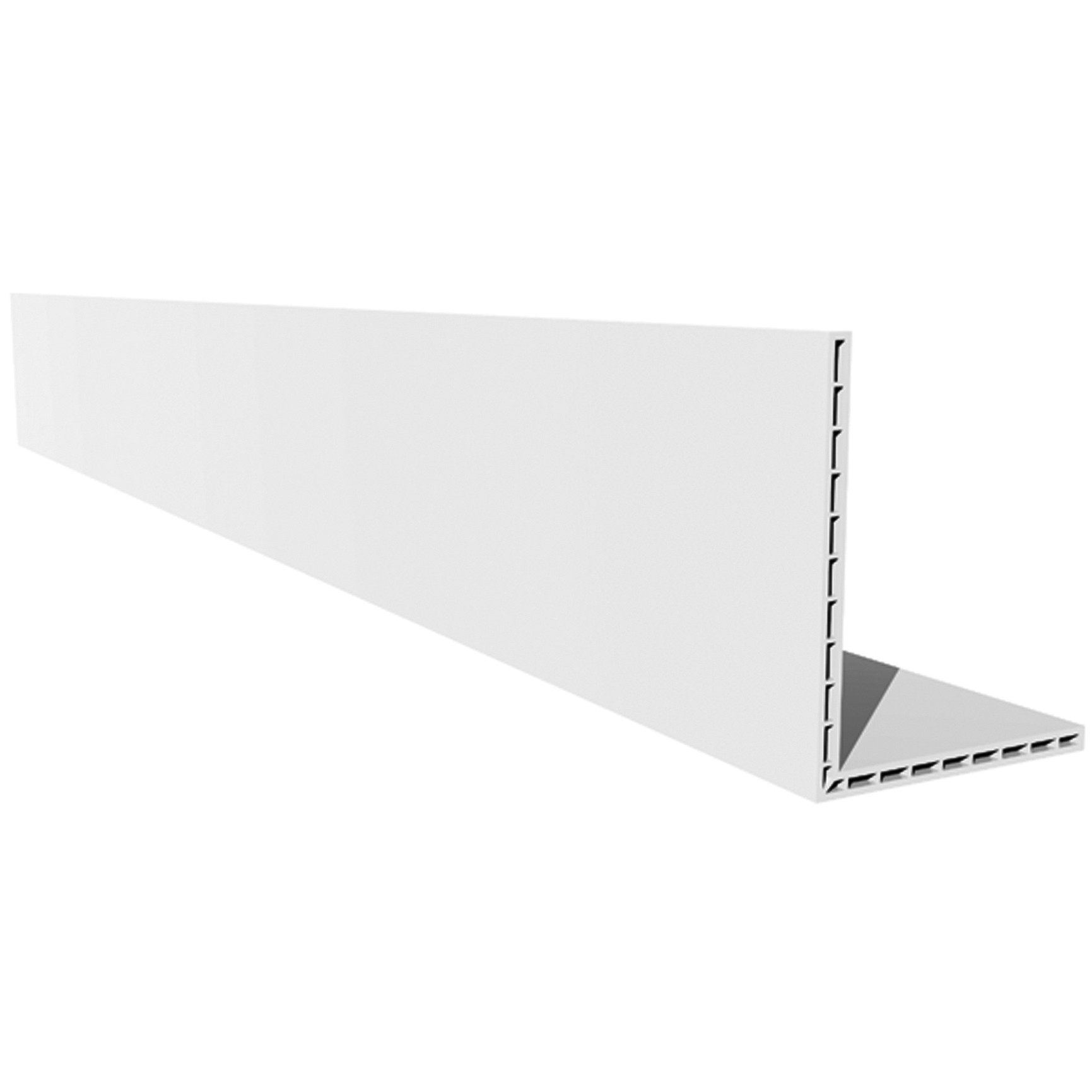 Freefoam Plastic Hollow Angle - White, 100mm x 80mm, 2.5 metre