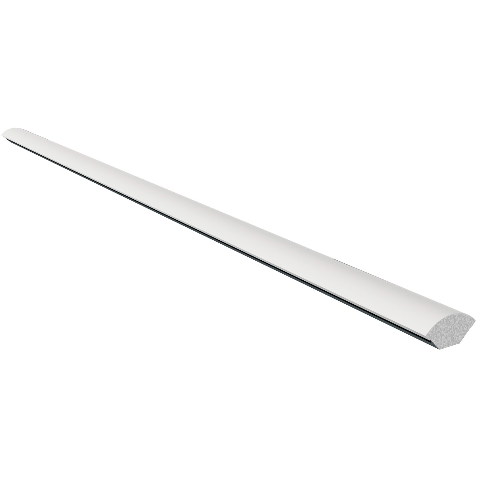 Freefoam Plastic Quadrant Window Trim - White, 12mm, 2.5 metre