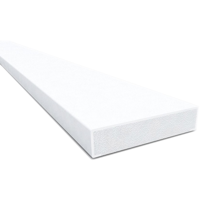 Freefoam Plastic Square Edge Window Batten (1.25 metre x 4) - White, 28mm