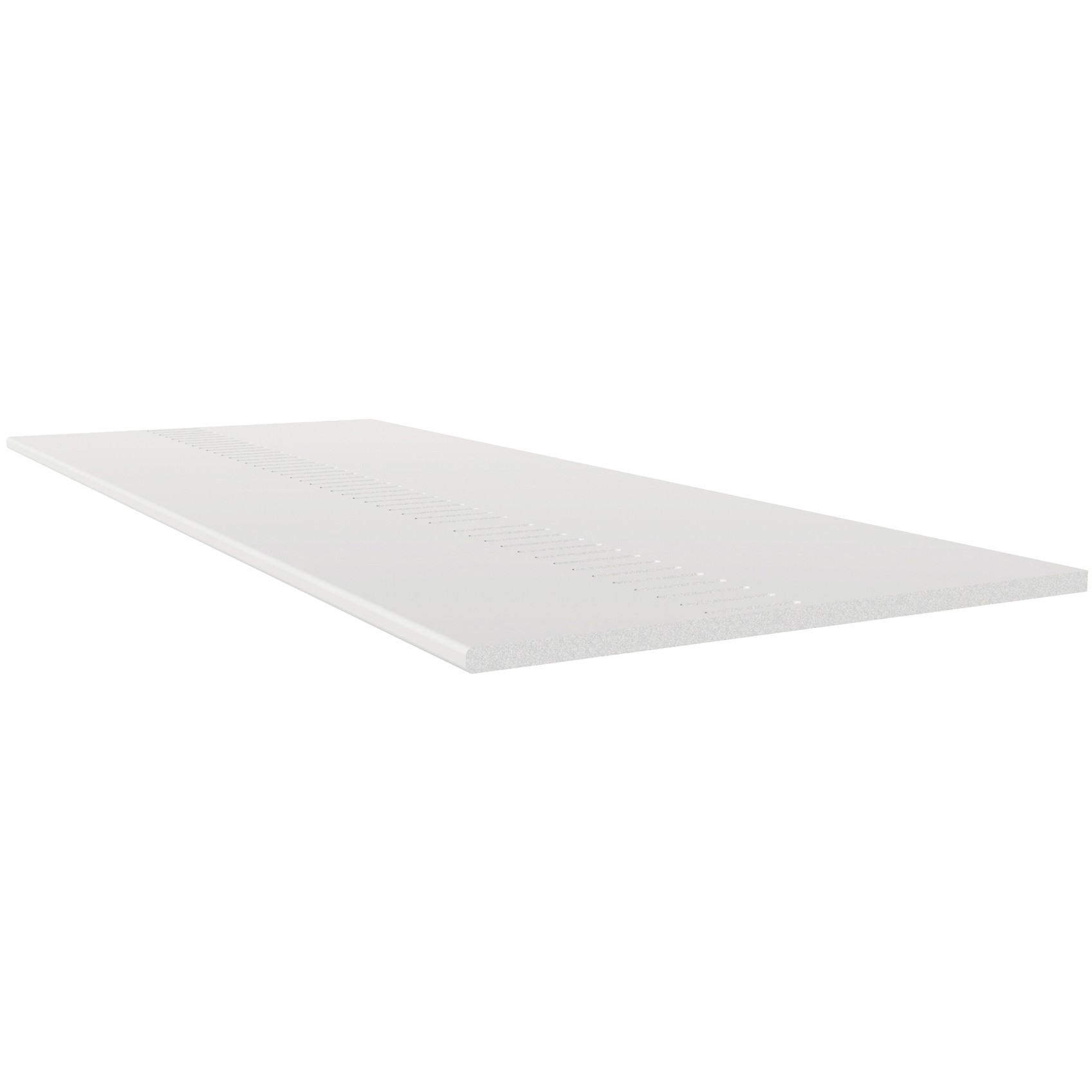 Freefoam Pre Vented 10mm Solid Soffit Board - White, 405mm, 5 metre
