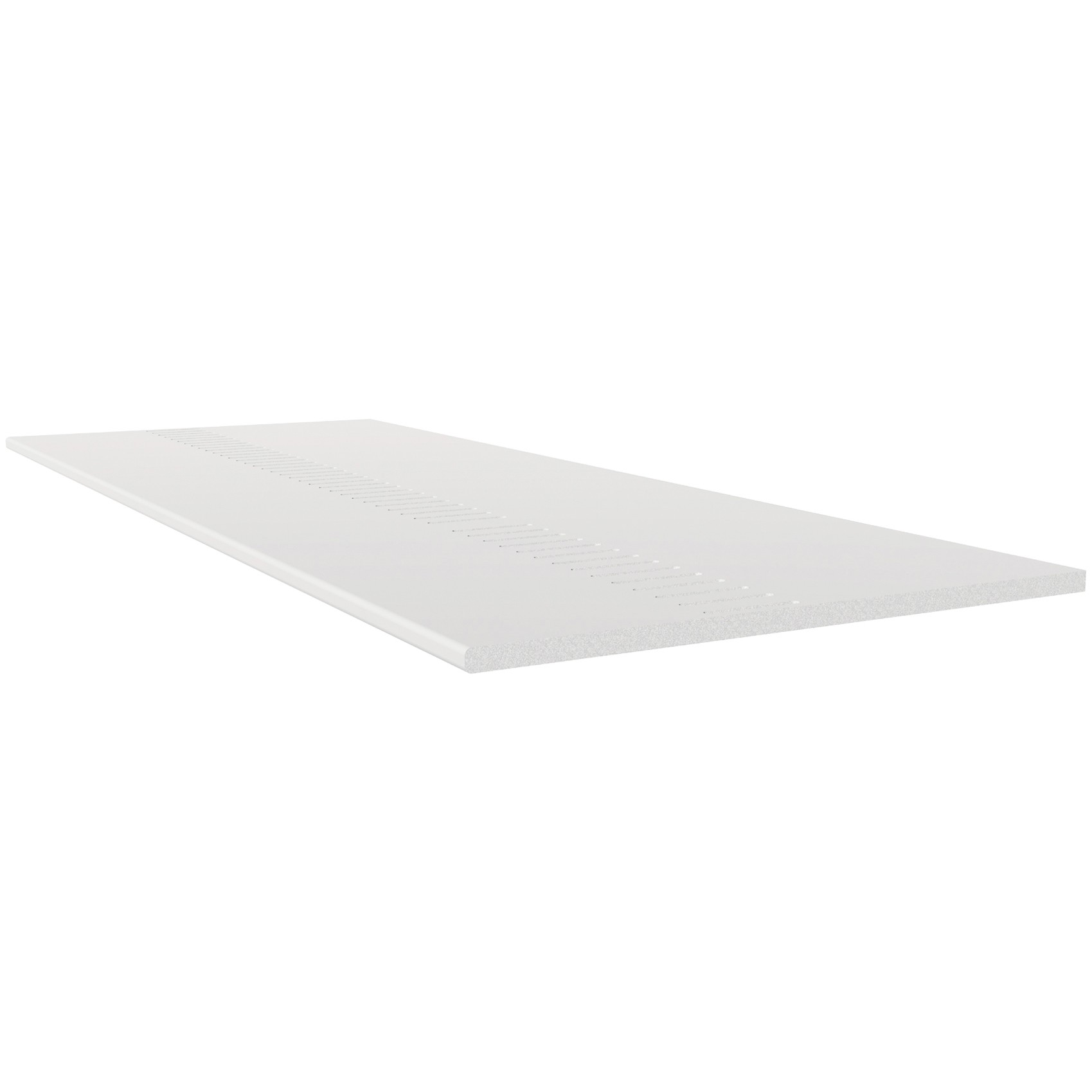 Freefoam Pre Vented 10mm Solid Soffit Board - White, 605mm, 5 metre