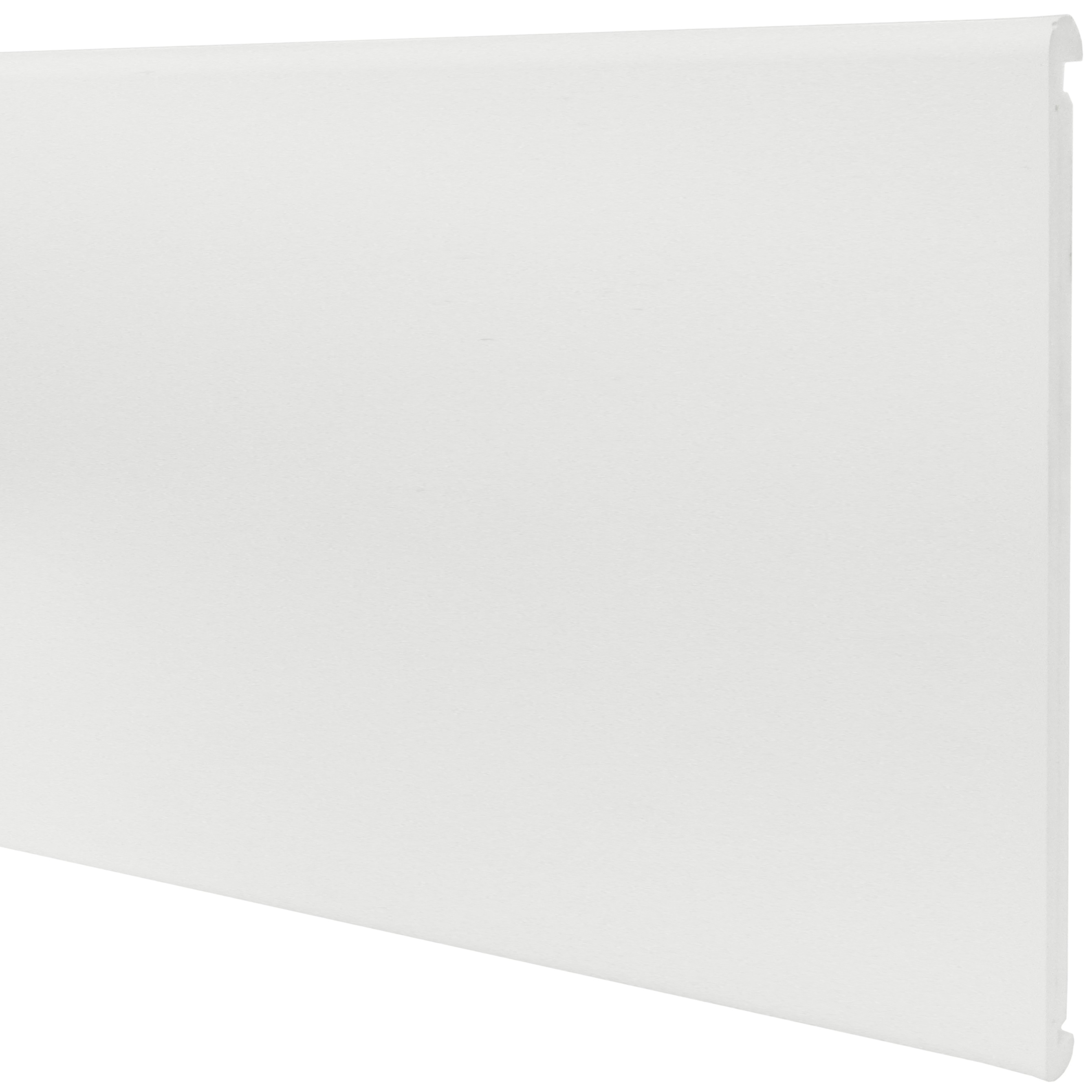 Freefoam Round Nose 18mm Doubled Sided Fascia Board - White, 405mm, 2.5 metre