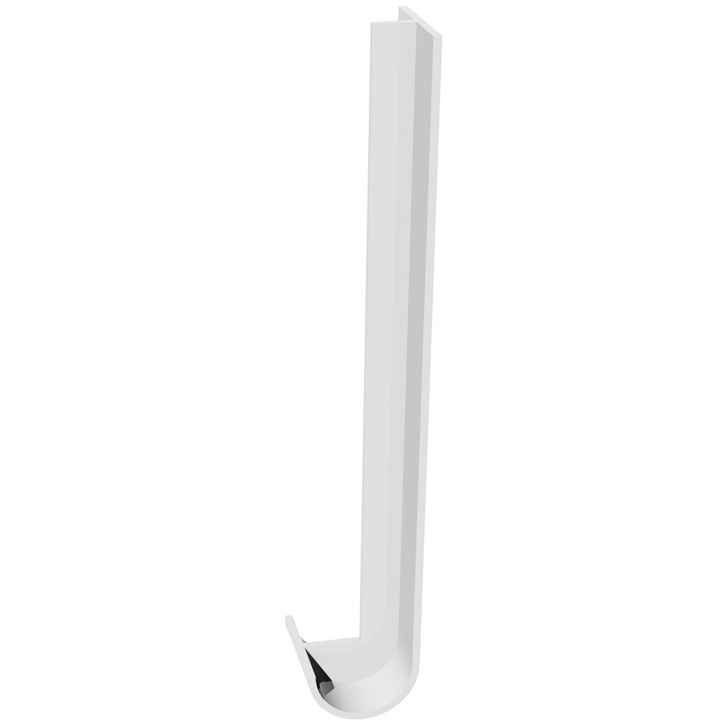 Freefoam Round Nose 18mm Fascia Board Joiner (Double) - White