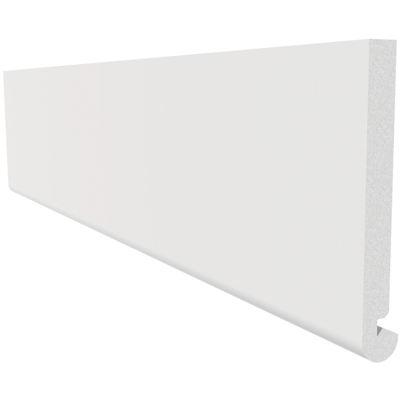 Freefoam Round Nose 18mm Fascia Board - White, 250mm, 2.5 metre