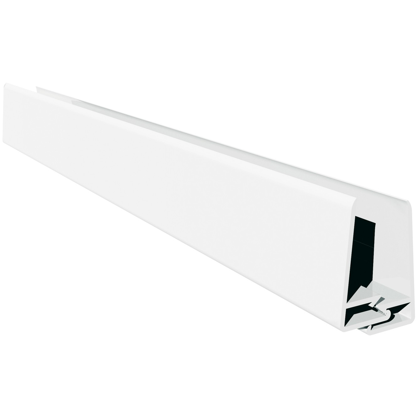 Freefoam Shiplap Cladding 2 Part Edge Trim - White, 151mm, 3 metre