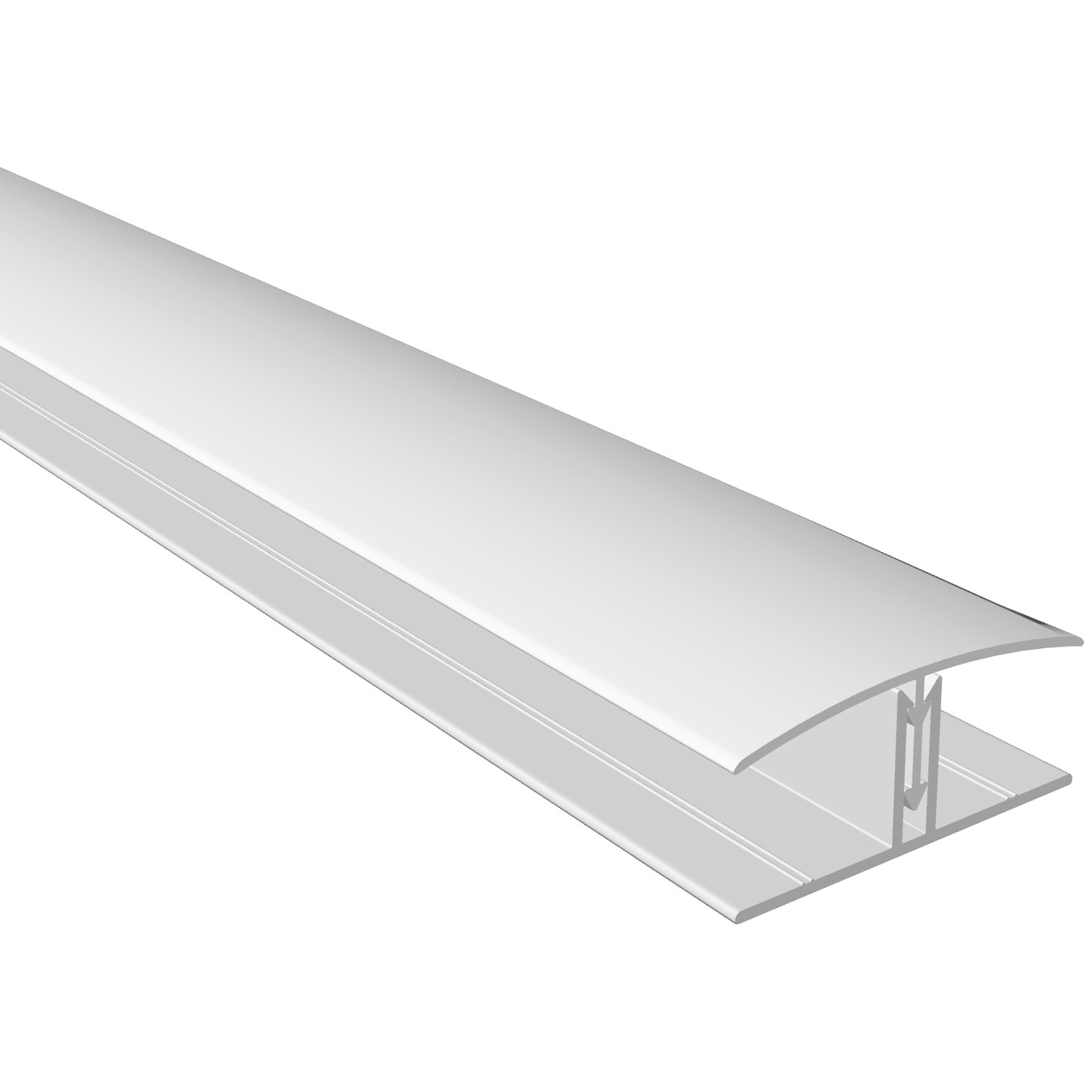 Freefoam Shiplap Cladding 2 Part H Joining Trim - White, 151mm, 3 metre