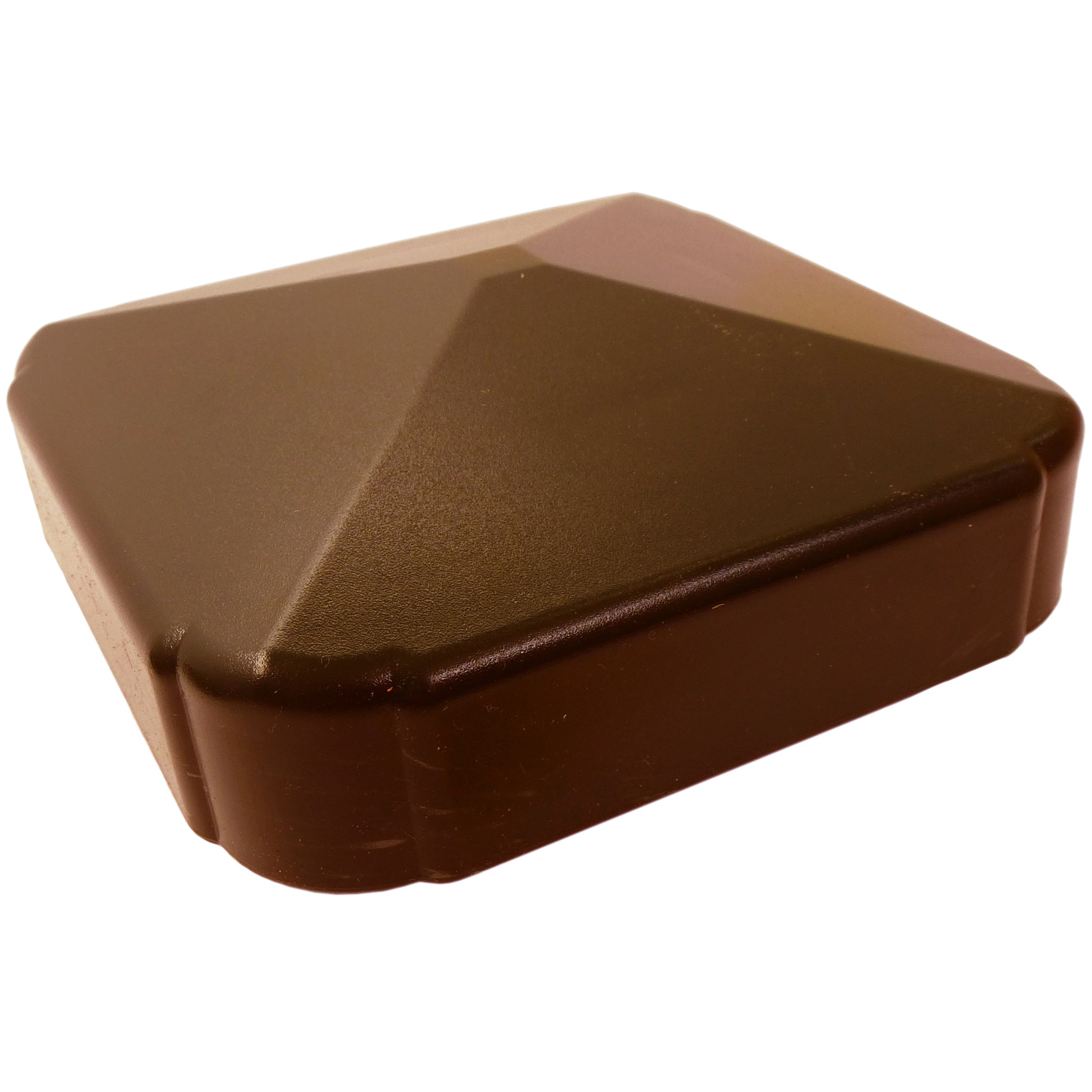 Liniar Plastic Fence Post Cap - Brown