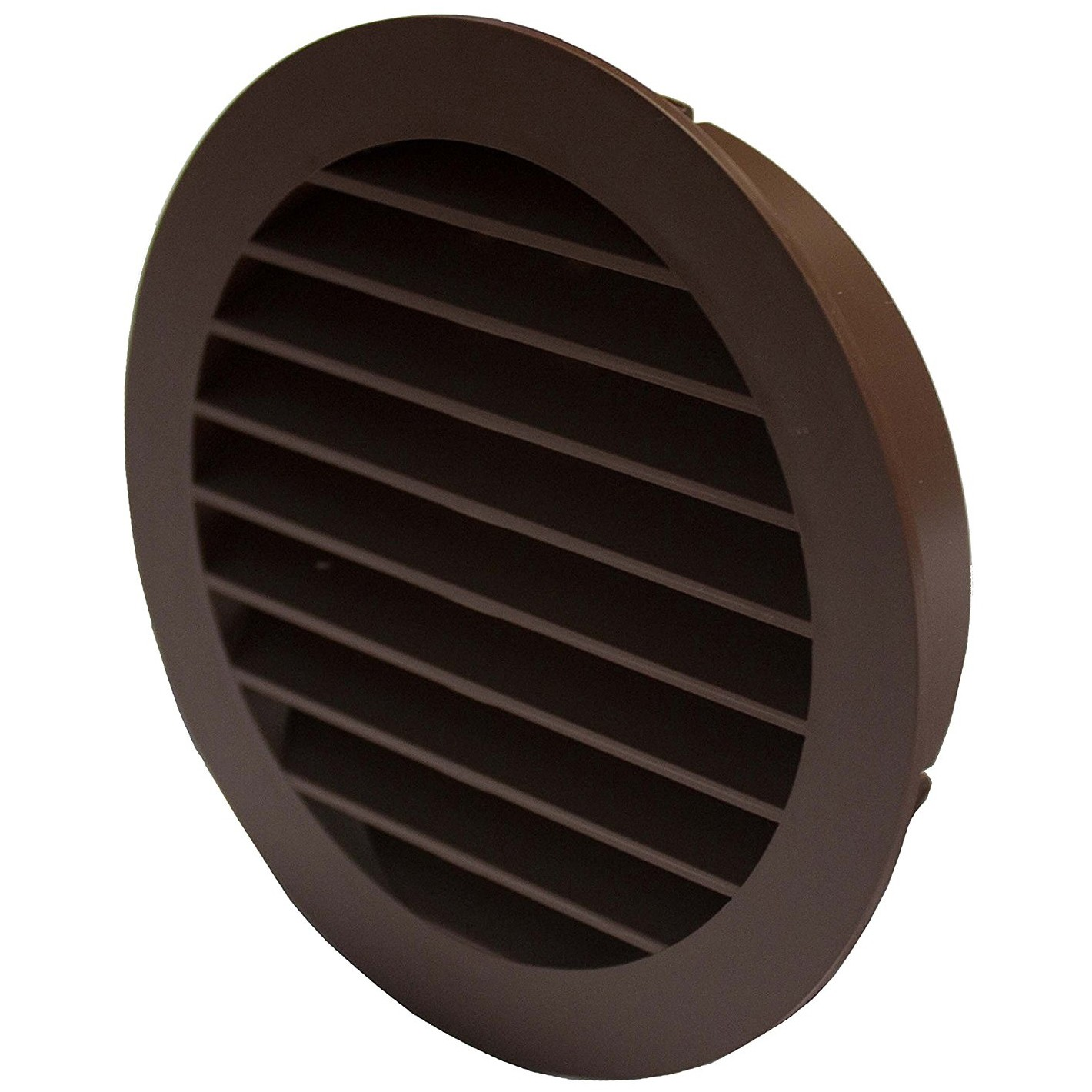 Manrose External Round Louvred Grille Outlet - Brown, 100mm