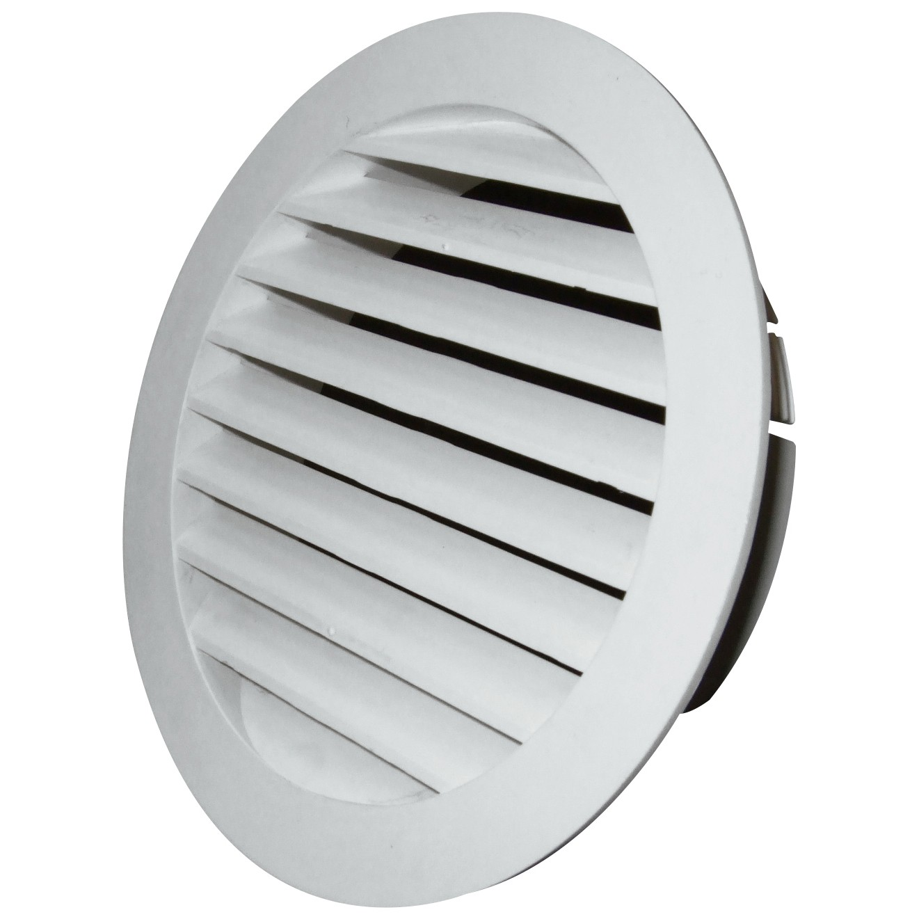 Manrose External Round Louvred Grille Outlet - White, 100mm