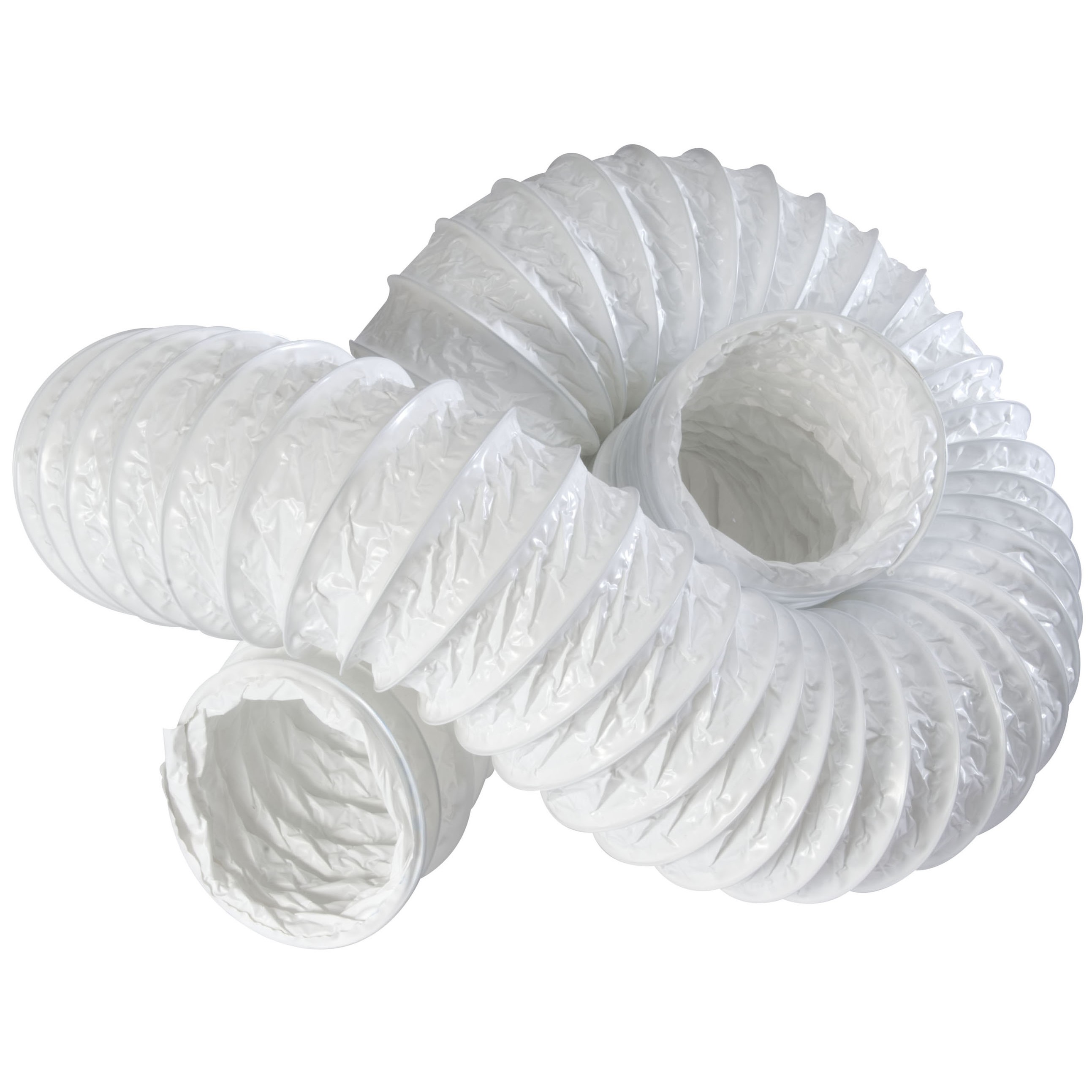 Manrose Round Ducting Flexible Hose - White, 100mm, 3 metre