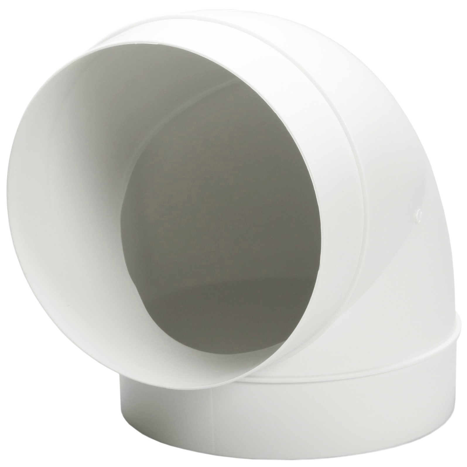 Manrose Round Ducting Pipe 90 Degree Bend - White, 120mm