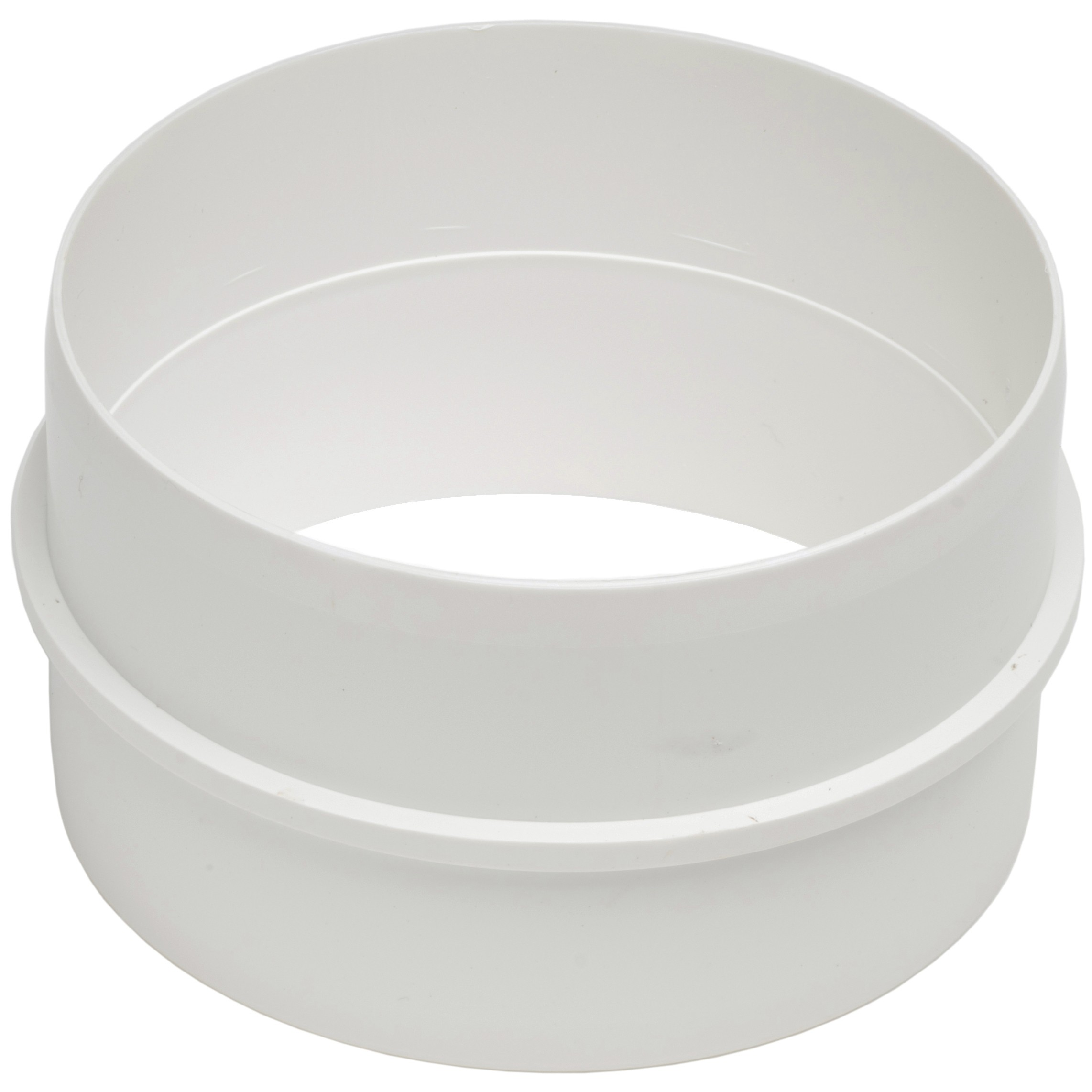 Manrose Round Ducting Pipe Connector - White, 100mm