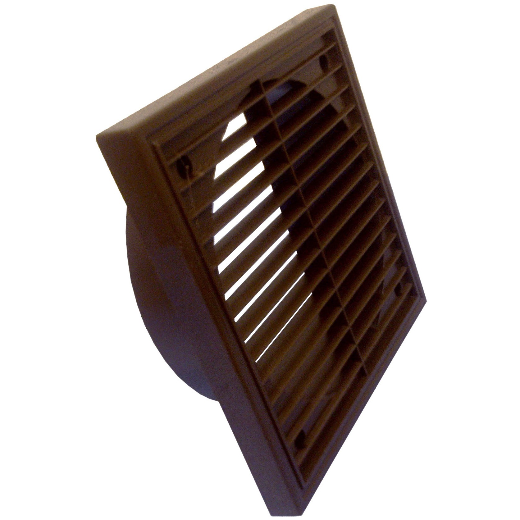 Manrose Round Ducting Pipe Fixed Grille Vent Outlet - Brown, 100mm
