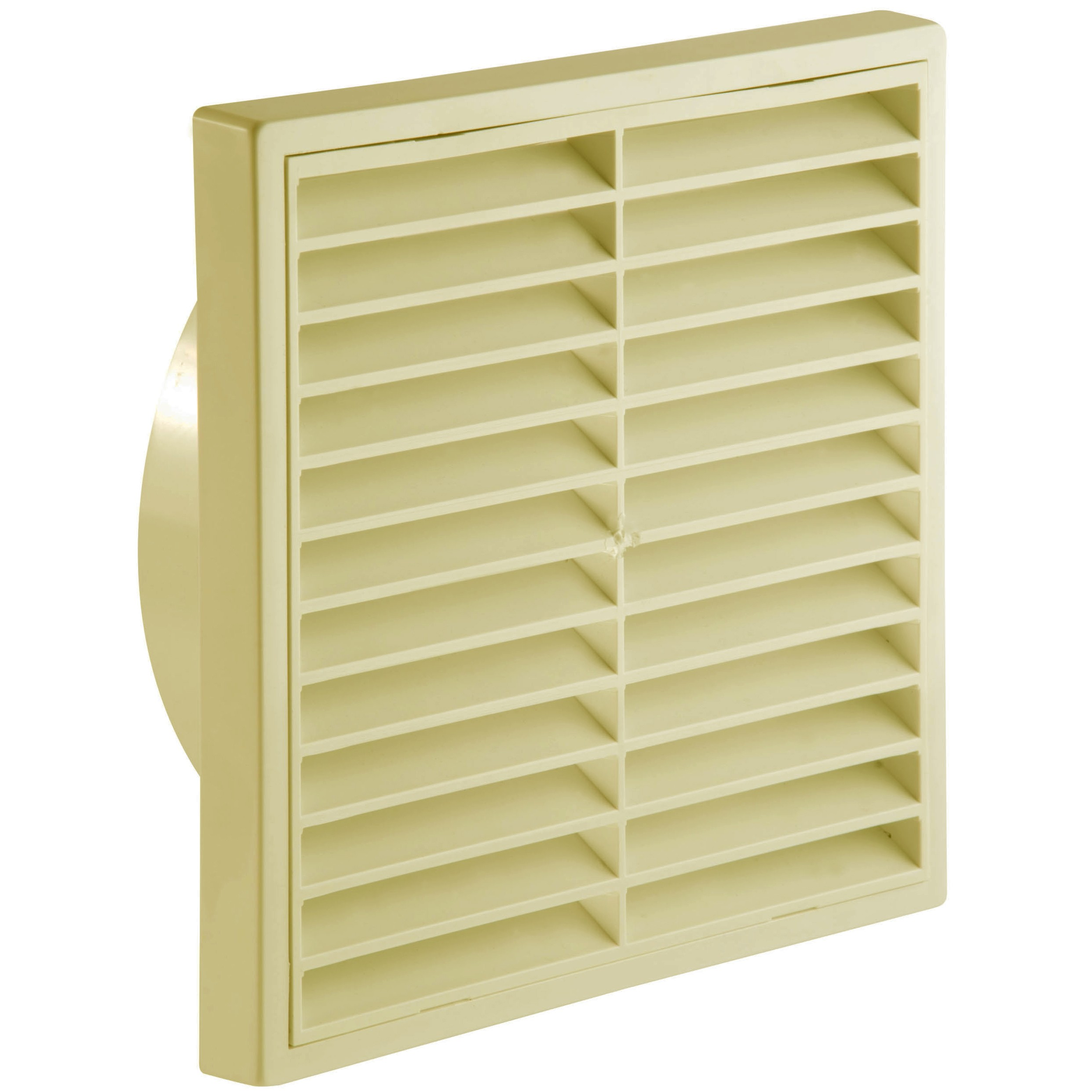 Manrose Round Ducting Pipe Fixed Grille Vent Outlet - Cream, 125mm