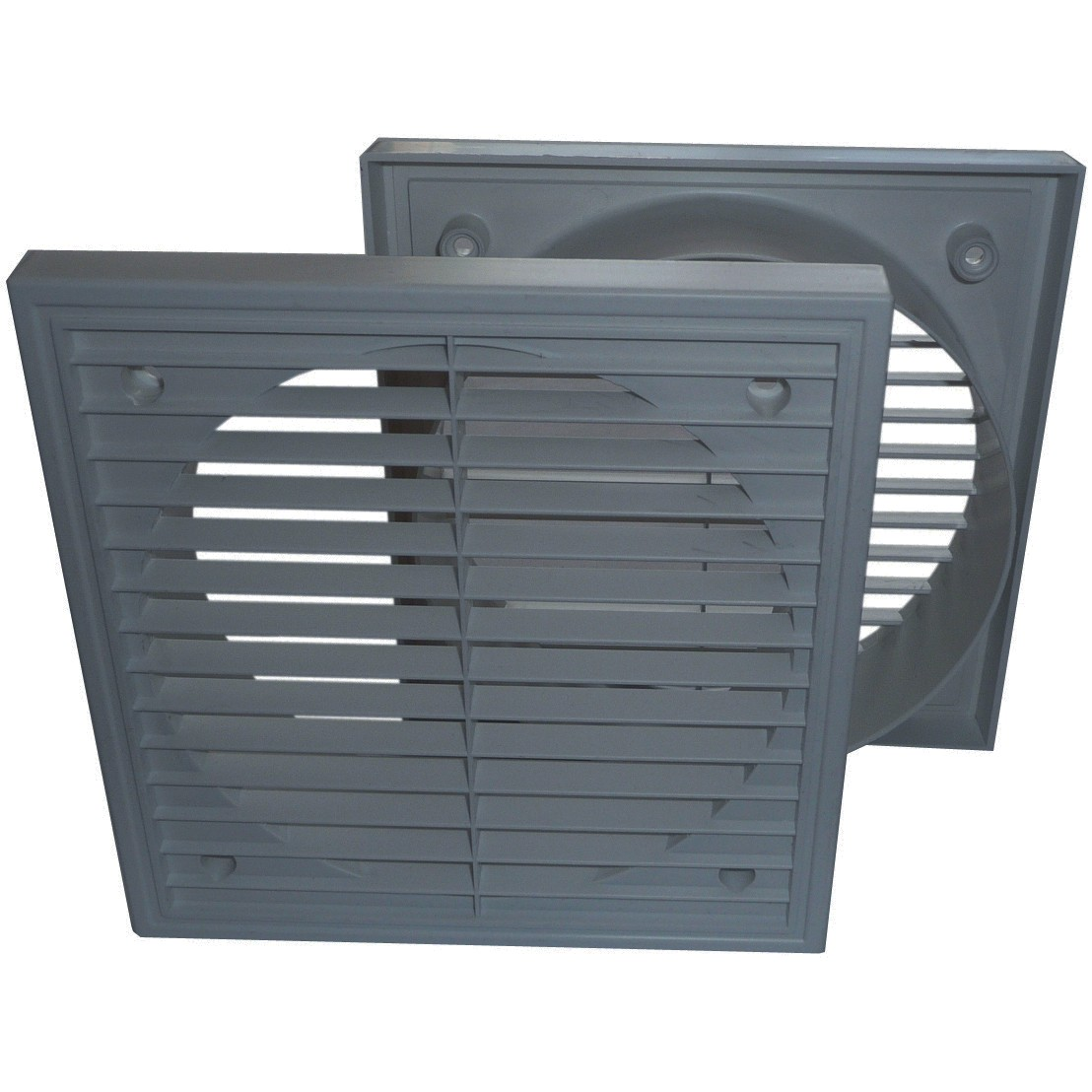 Manrose Round Ducting Pipe Fixed Grille Vent Outlet - Grey, 125mm