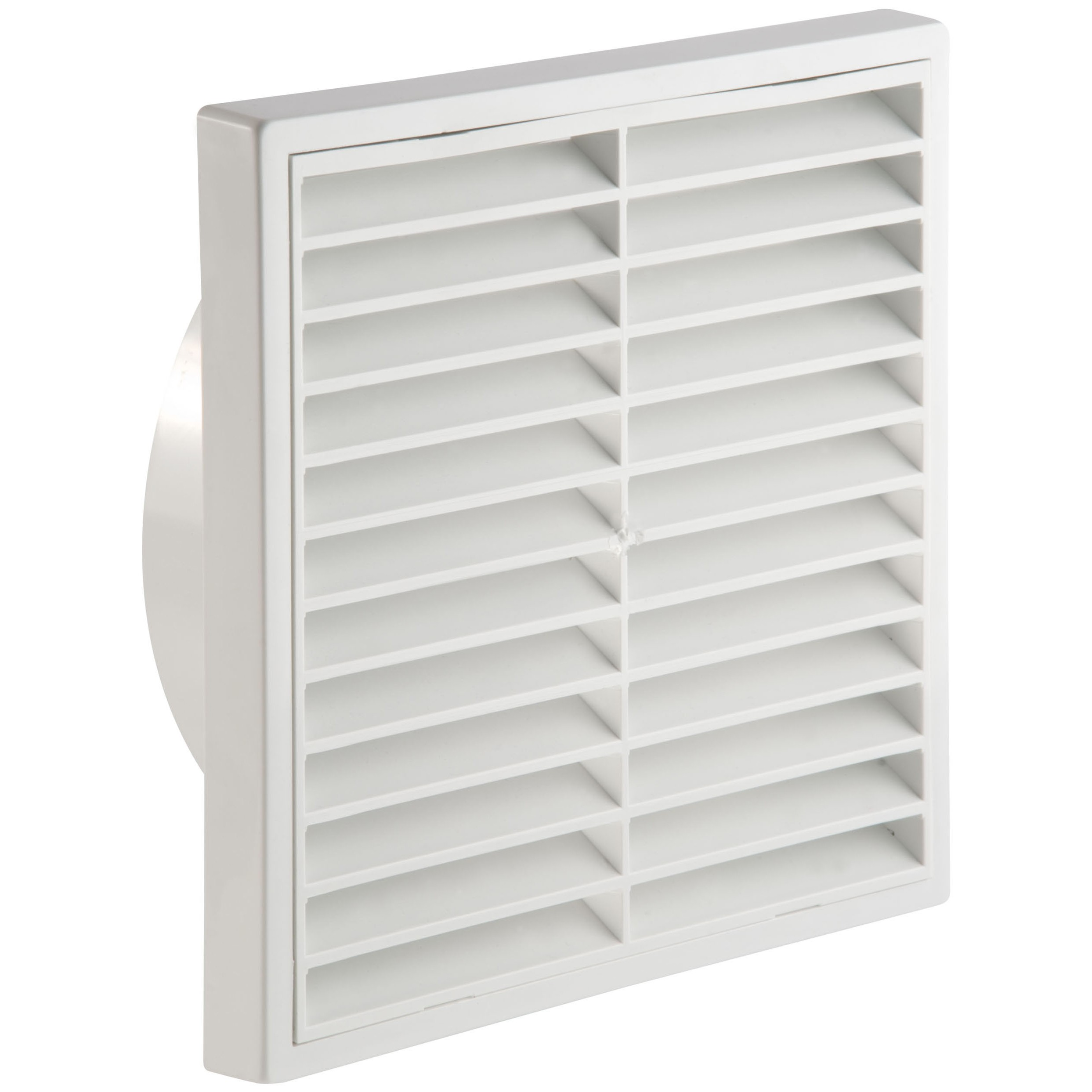 Manrose Round Ducting Pipe Fixed Grille Vent Outlet - White, 150mm