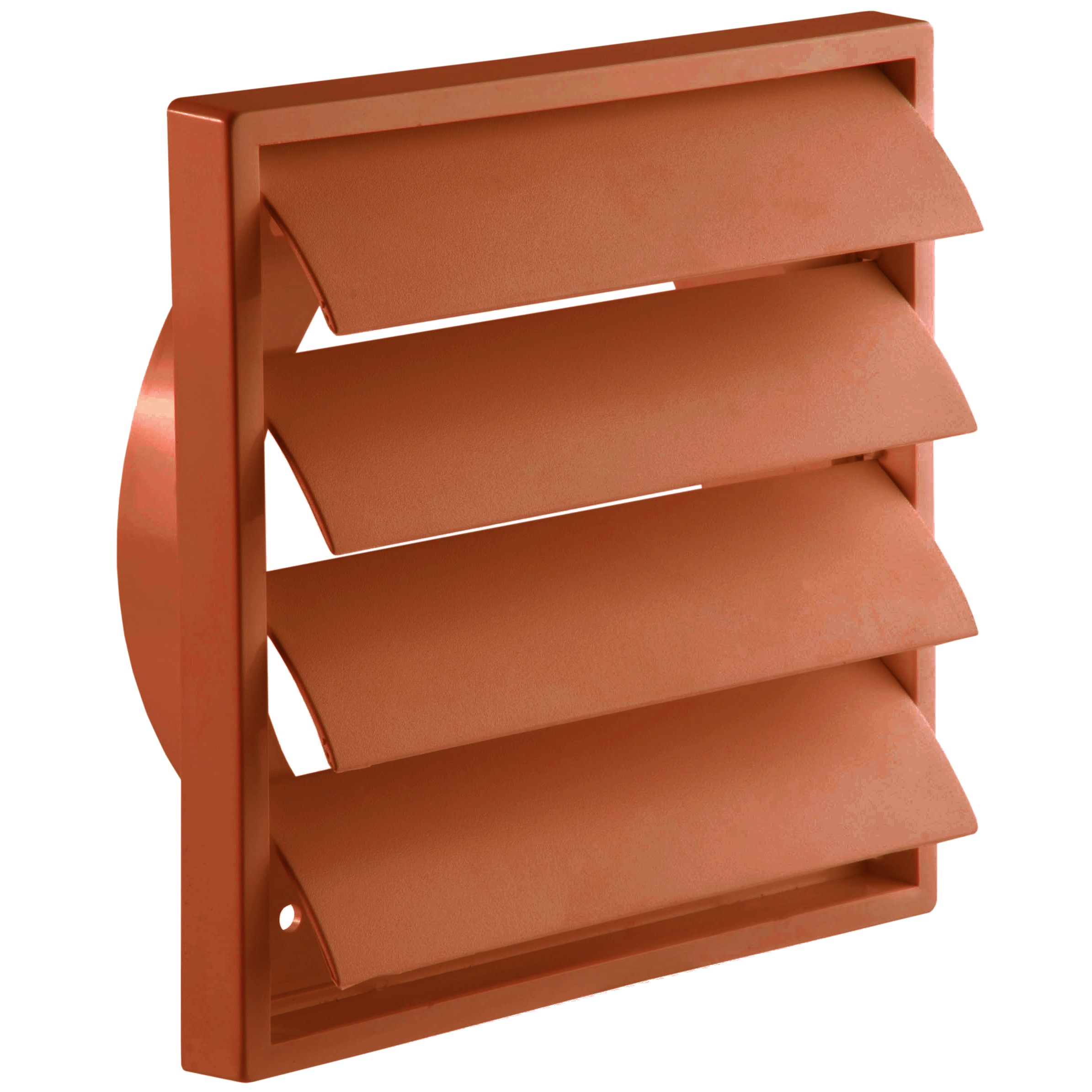 Manrose Round Ducting Pipe Gravity Shutter Vent Outlet - Terracotta, 125mm