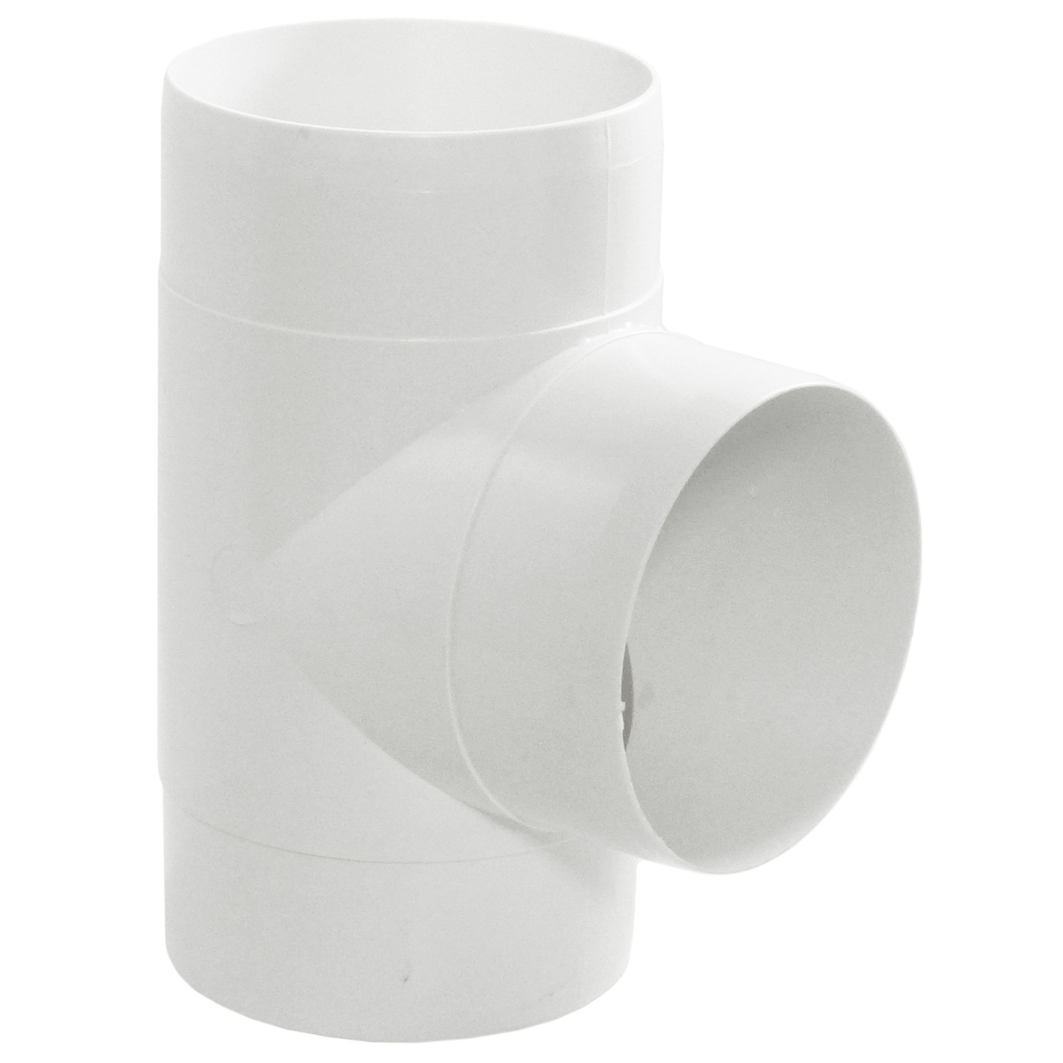 Manrose Round Ducting Pipe T Piece - White, 100mm