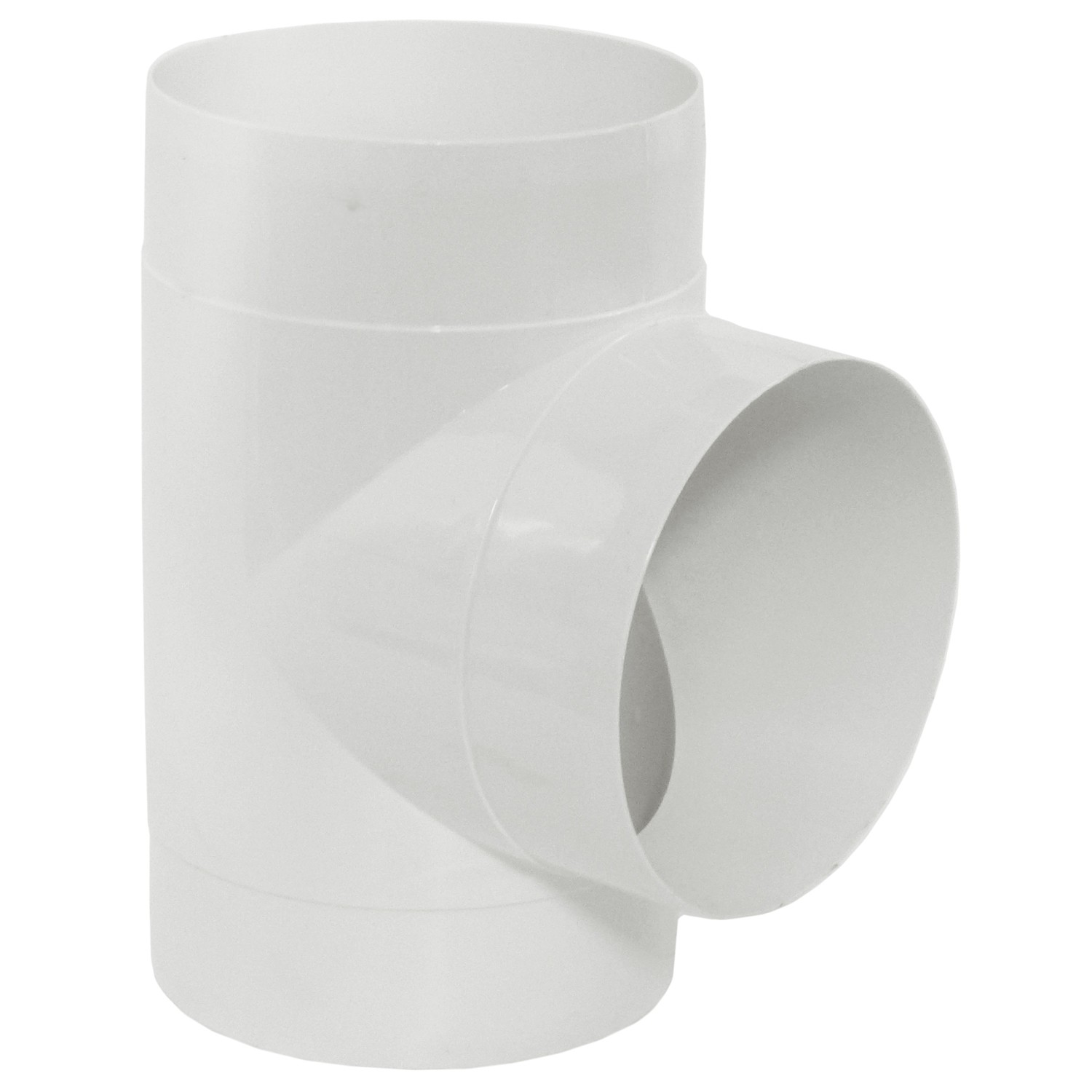 Manrose Round Ducting Pipe T Piece - White, 120mm