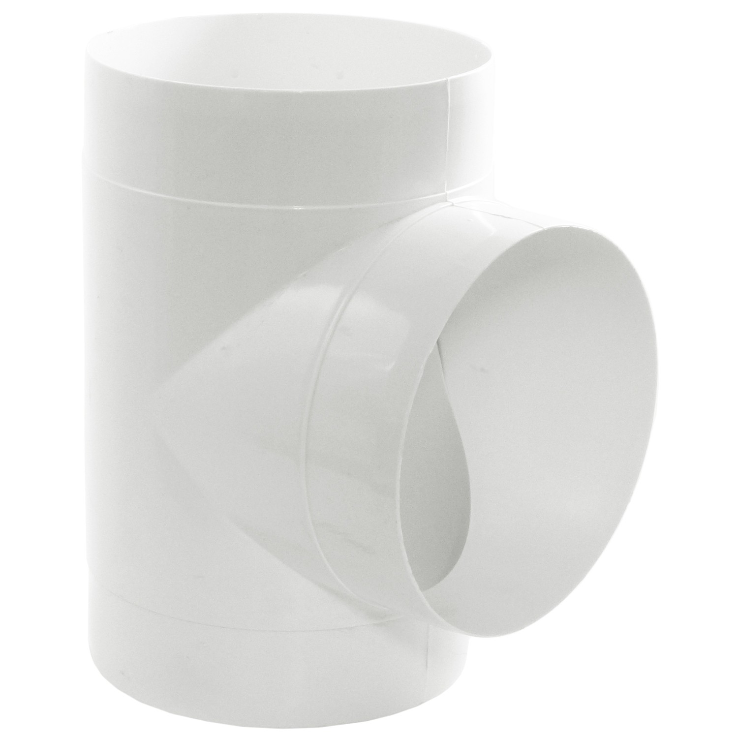 Manrose Round Ducting Pipe T Piece - White, 150mm