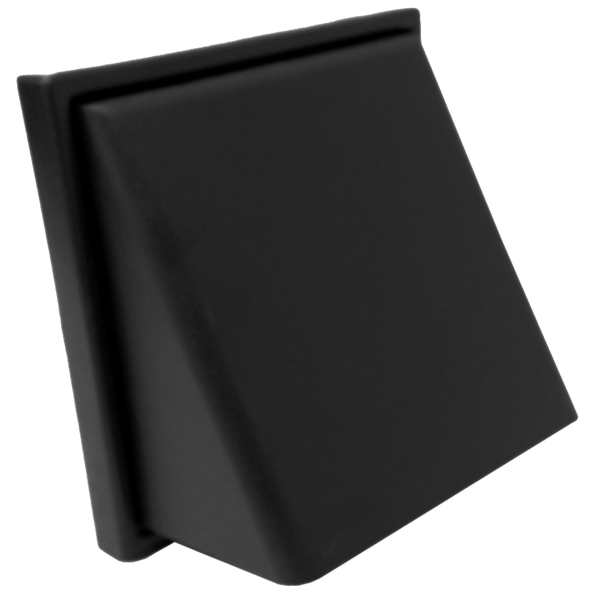 Manrose Round Ducting Pipe Wall Hood Cowled Outlet - Black, 100mm