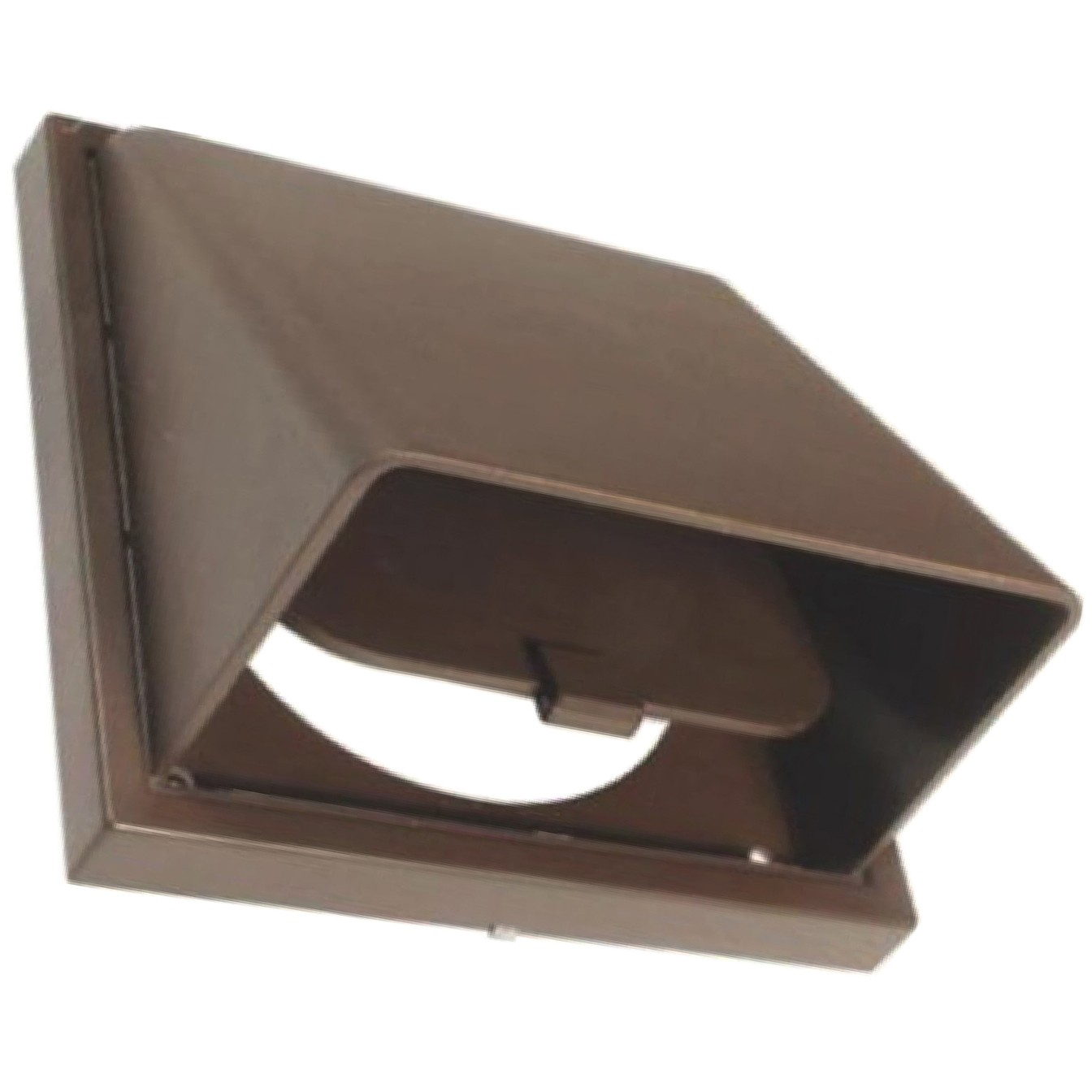 Manrose Round Ducting Pipe Wall Hood Cowled Outlet - Brown, 100mm
