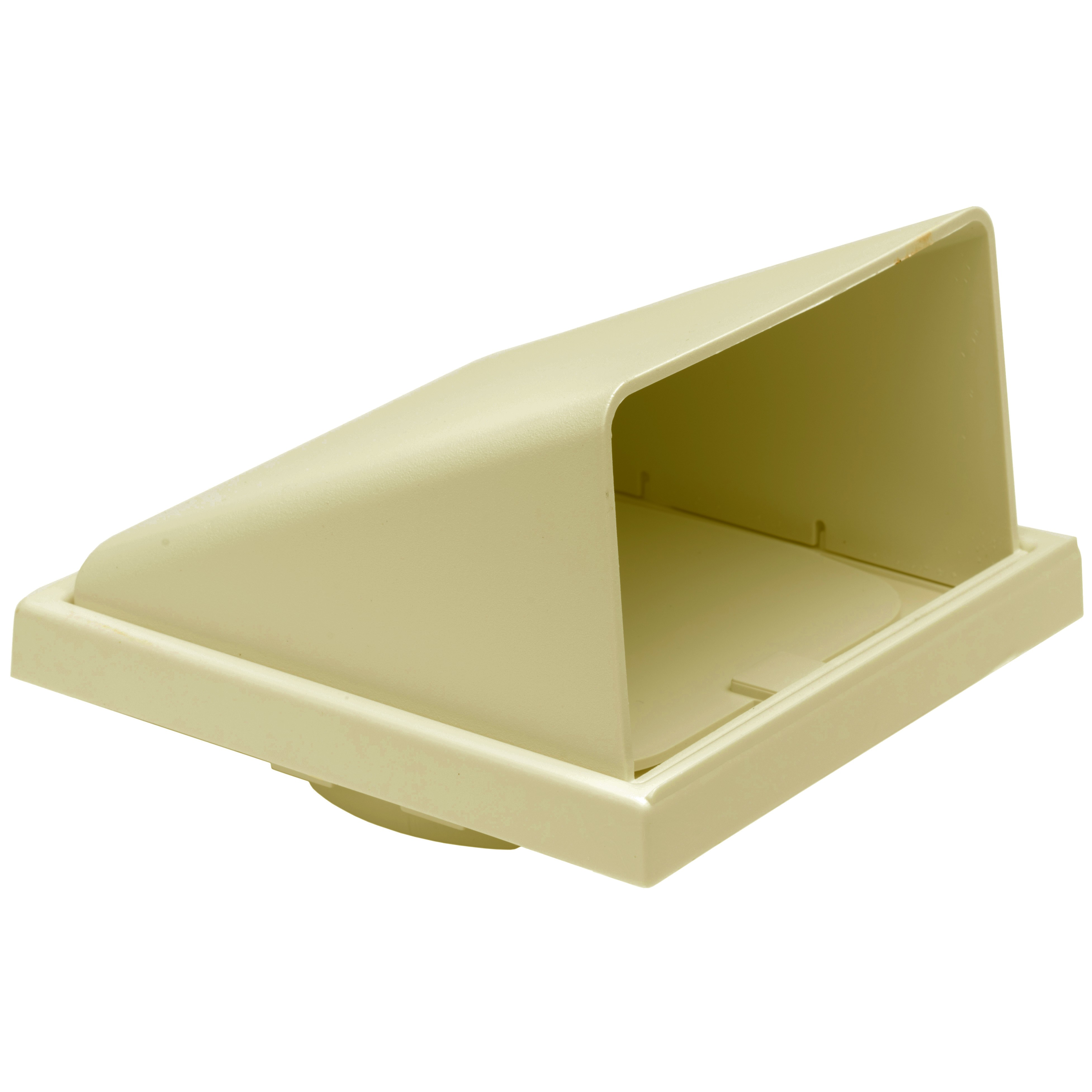 Manrose Round Ducting Pipe Wall Hood Cowled Outlet - Cream, 100mm