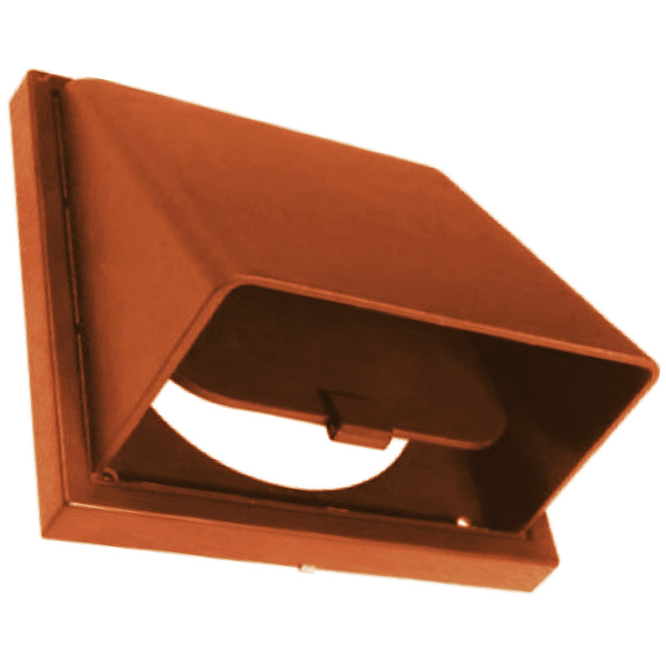 Manrose Round Ducting Pipe Wall Hood Cowled Outlet - Terracotta, 150mm