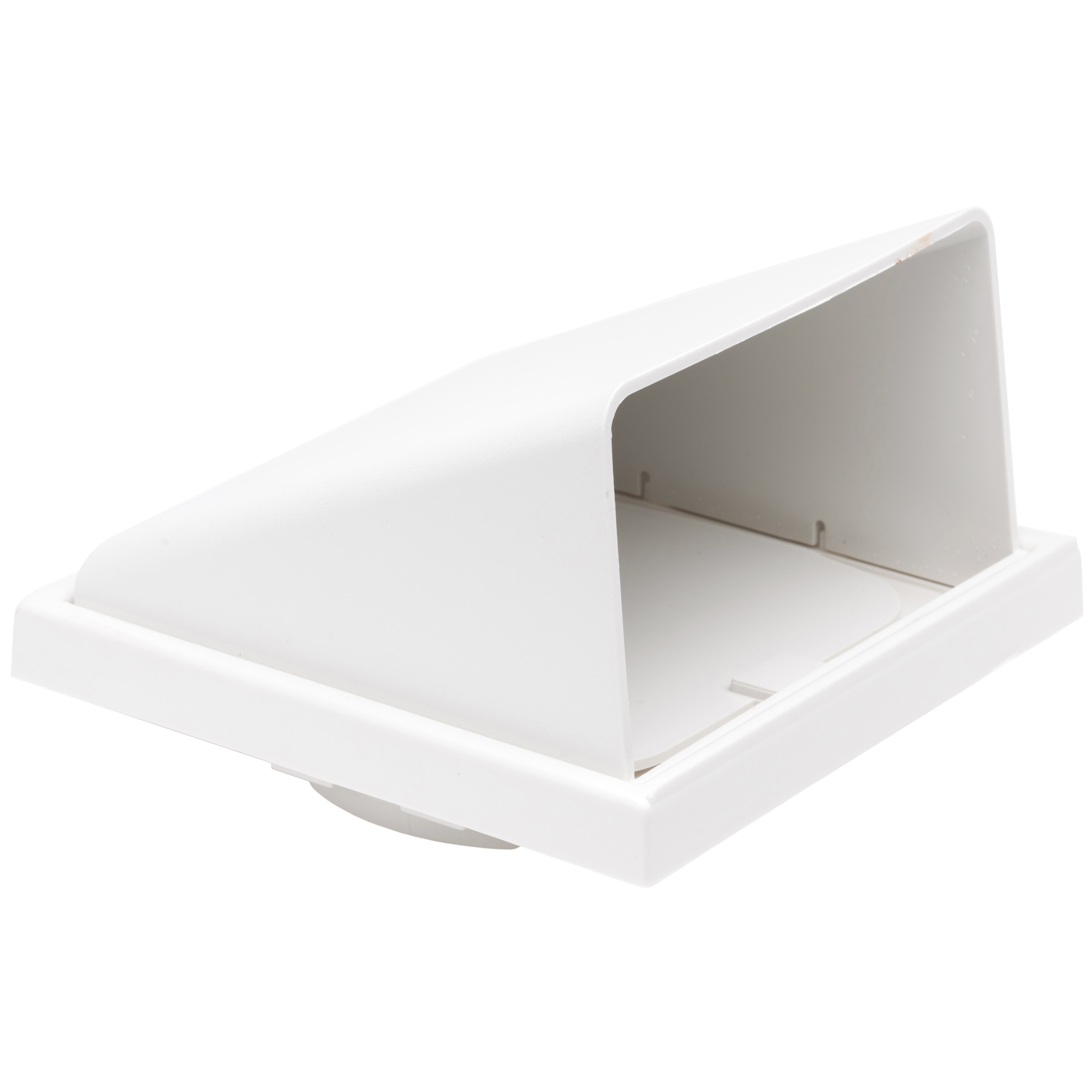 Manrose Round Ducting Pipe Wall Hood Cowled Outlet - White, 125mm
