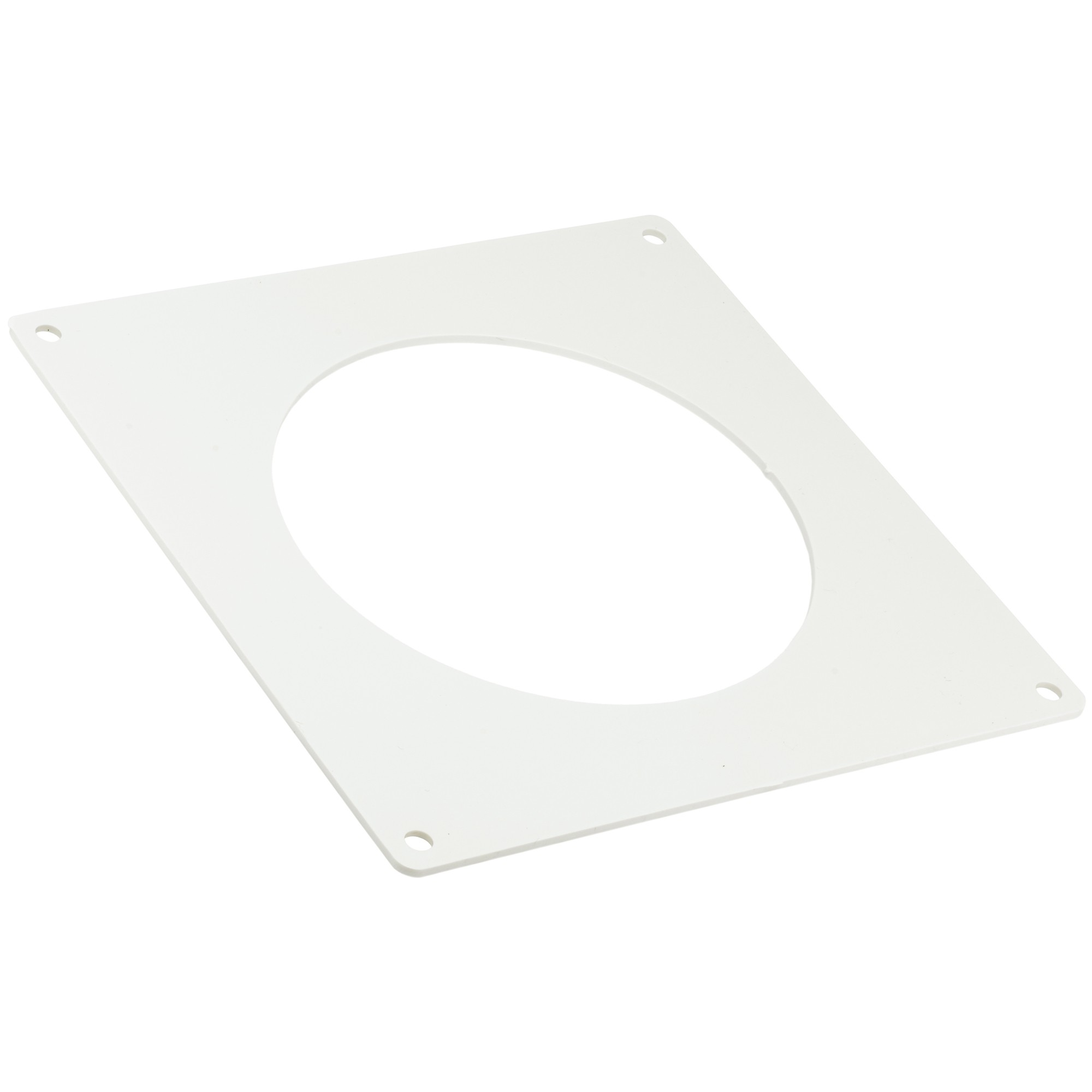 Manrose Round Ducting Pipe Wall Plate - White, 120mm