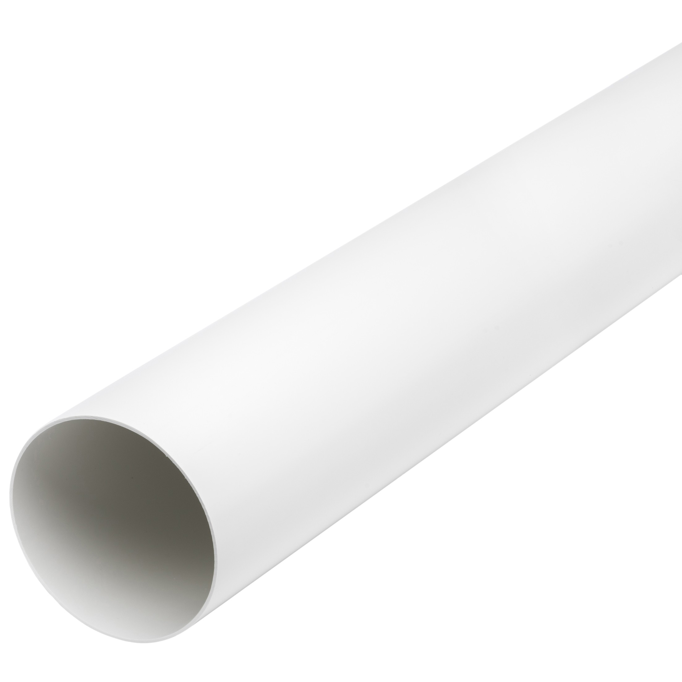 Manrose Round Ducting Pipe - White, 120mm, 1 metre