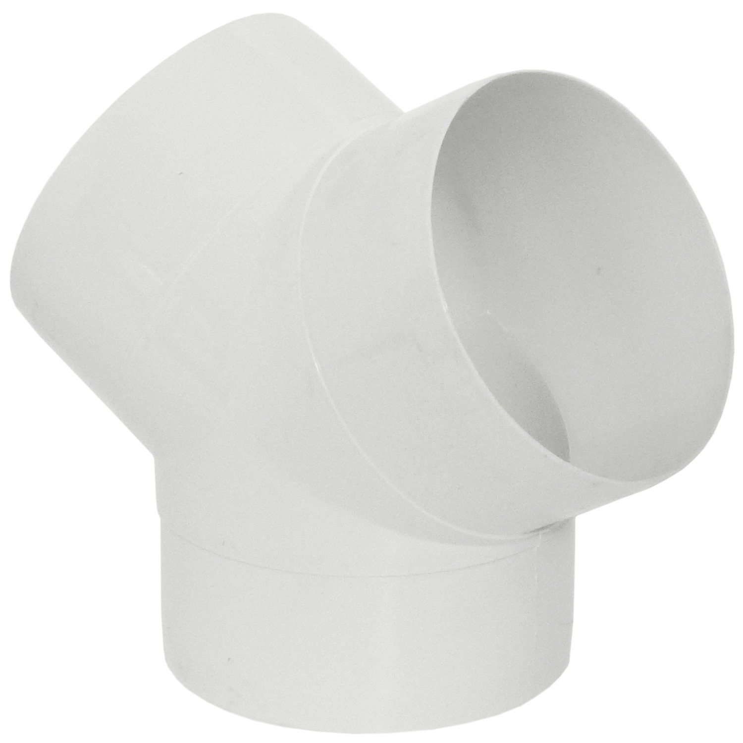 Manrose Round Ducting Pipe Y Piece - White, 100mm