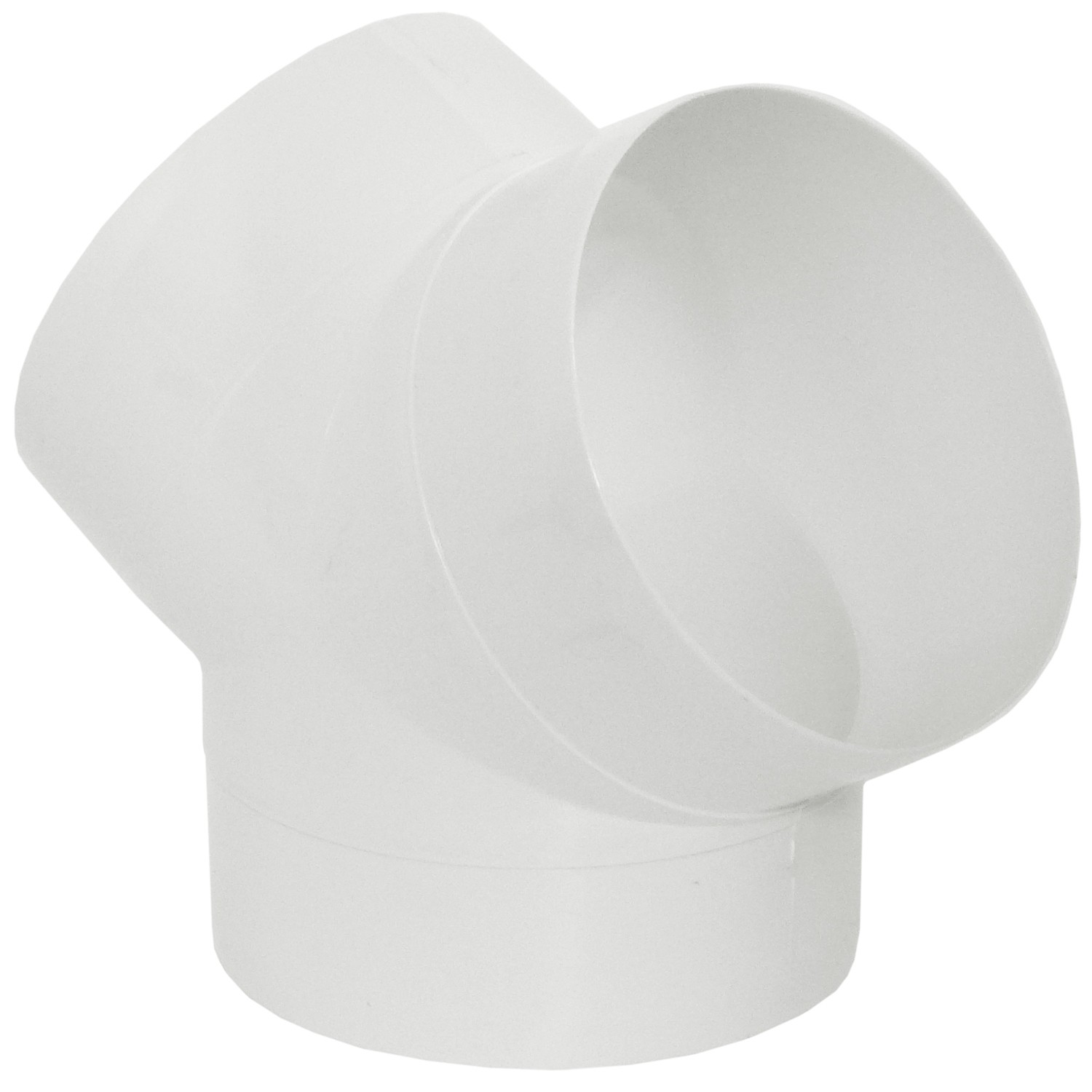 Manrose Round Ducting Pipe Y Piece - White, 120mm