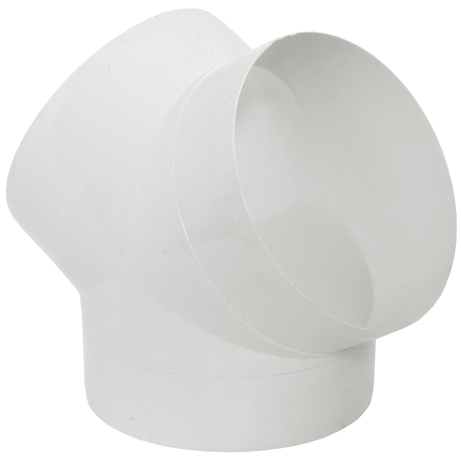 Manrose Round Ducting Pipe Y Piece - White, 150mm