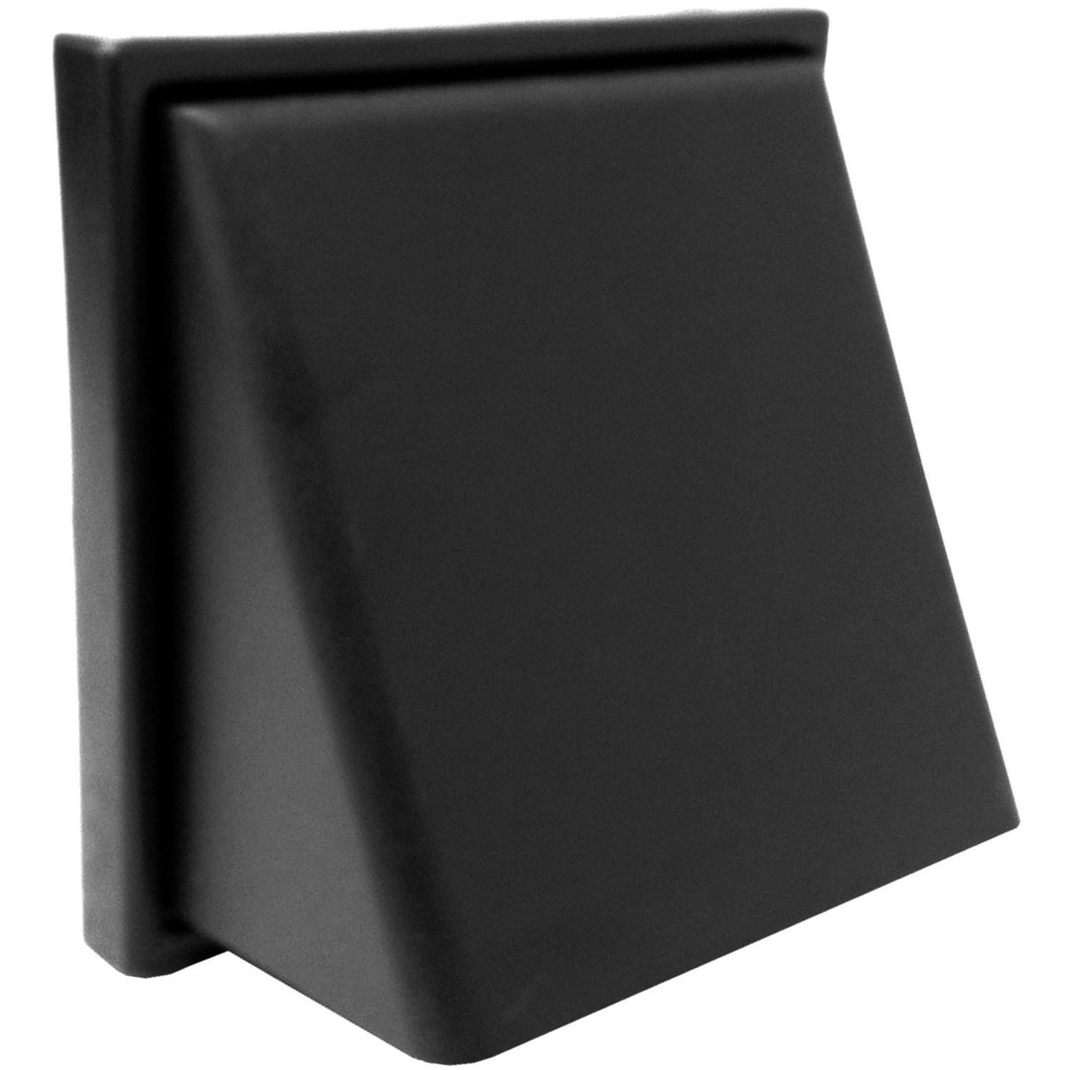 Manrose Round Ducting Pipe wall Hood Cowled Outlet - Black, 150mm