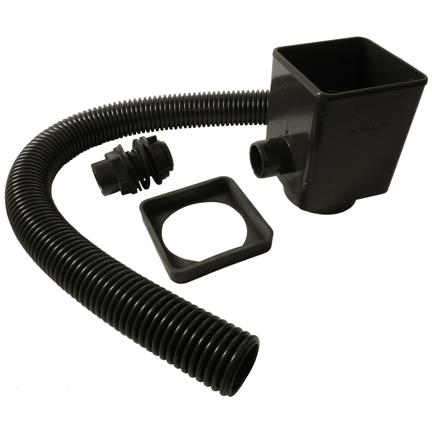 Marley Down Pipe Rain Water Diverter and Seal - Black