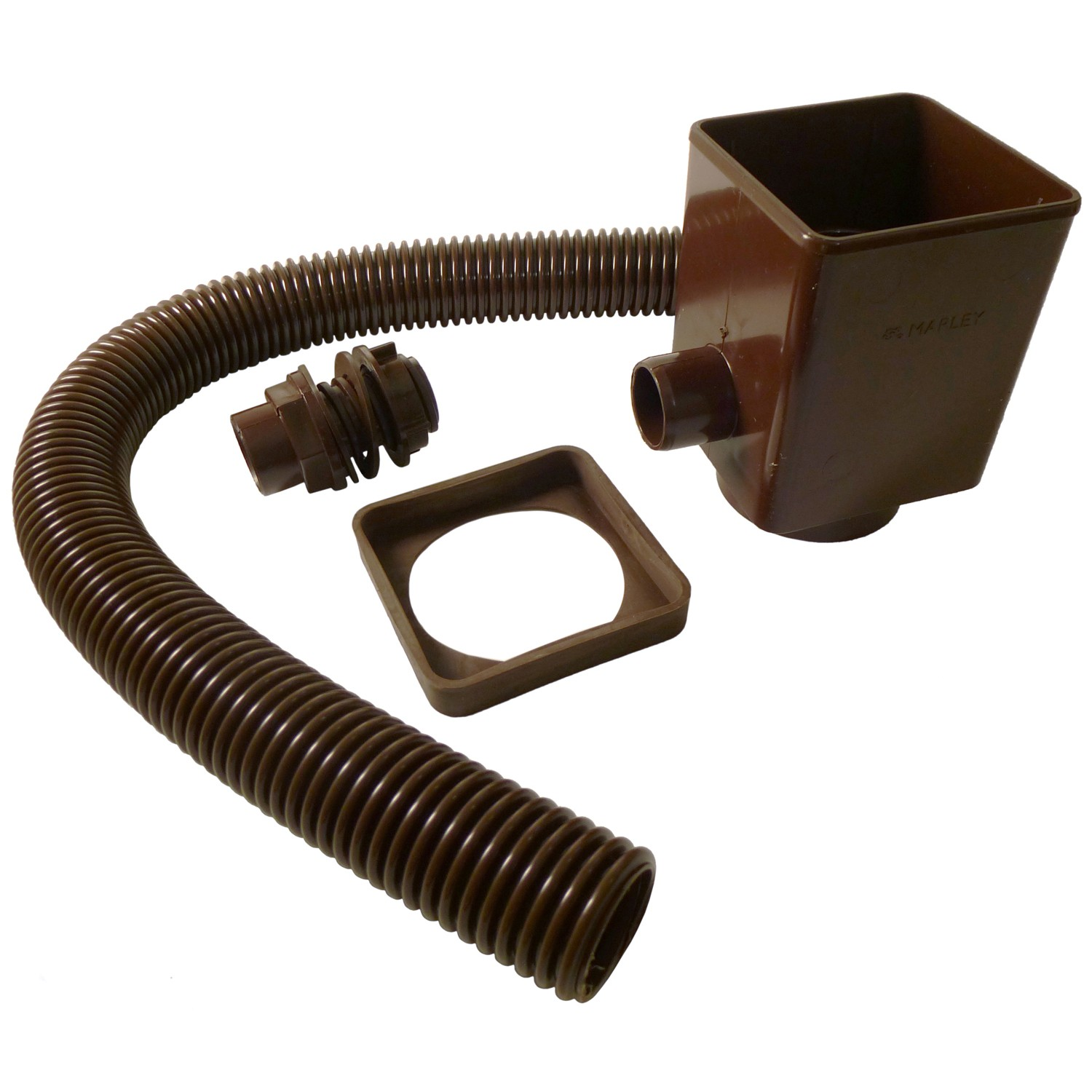 Marley Down Pipe Rain Water Diverter and Seal - Brown
