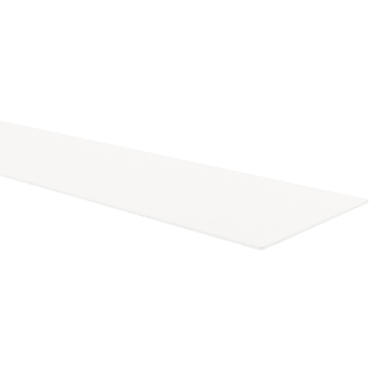 PSD 150mm x 2.5mm Shower Plinth Upstand - White, 2.4 metre