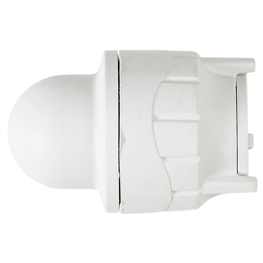 PolyFit 15mm Push Fit Socket Blank End - White