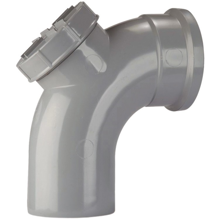 Polypipe 110mm Soil 92.5 Degree Access Bend - Grey