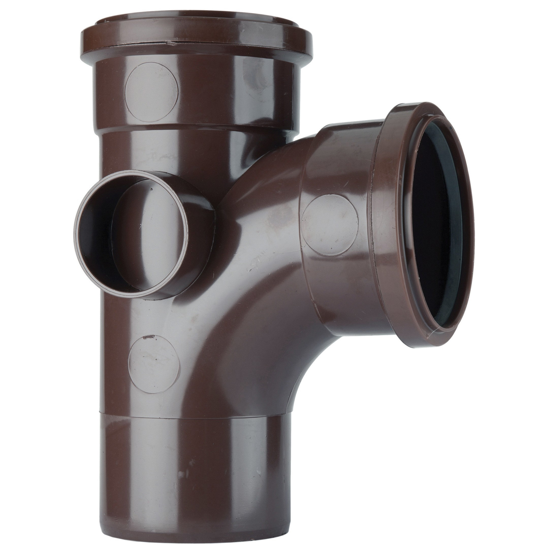Polypipe 110mm Soil 92.5 Degree Equal Single Branch - Brown