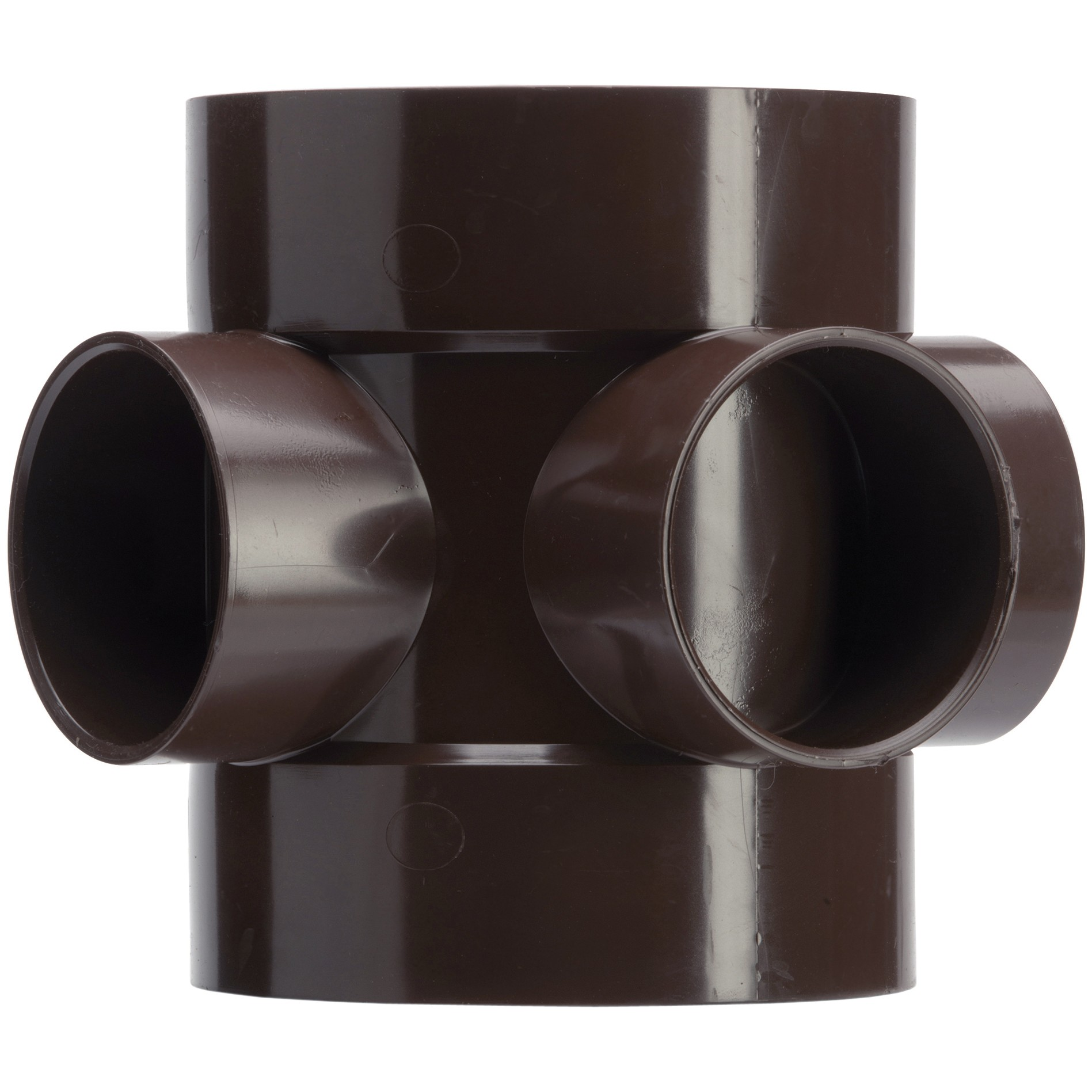 Polypipe 110mm Soil Double Socket Short Boss Pipe - Brown