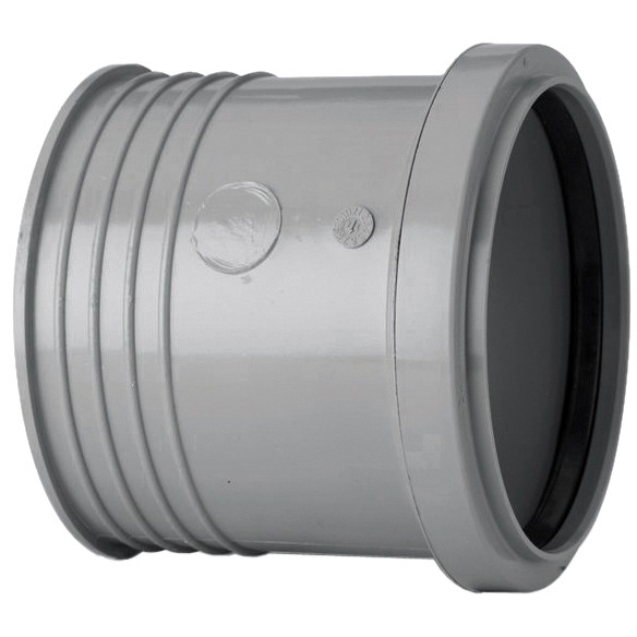Polypipe 110mm Soil Drain Connector - Grey