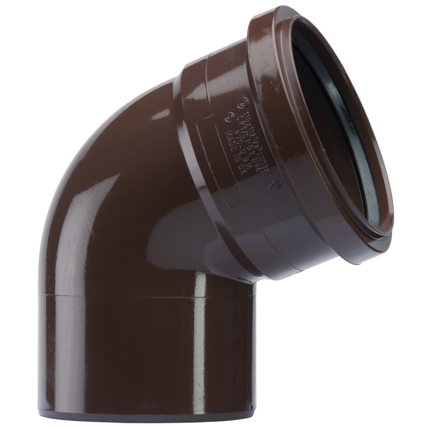 Polypipe 110mm Soil Single Socket 112.5 Degree Bend - Brown