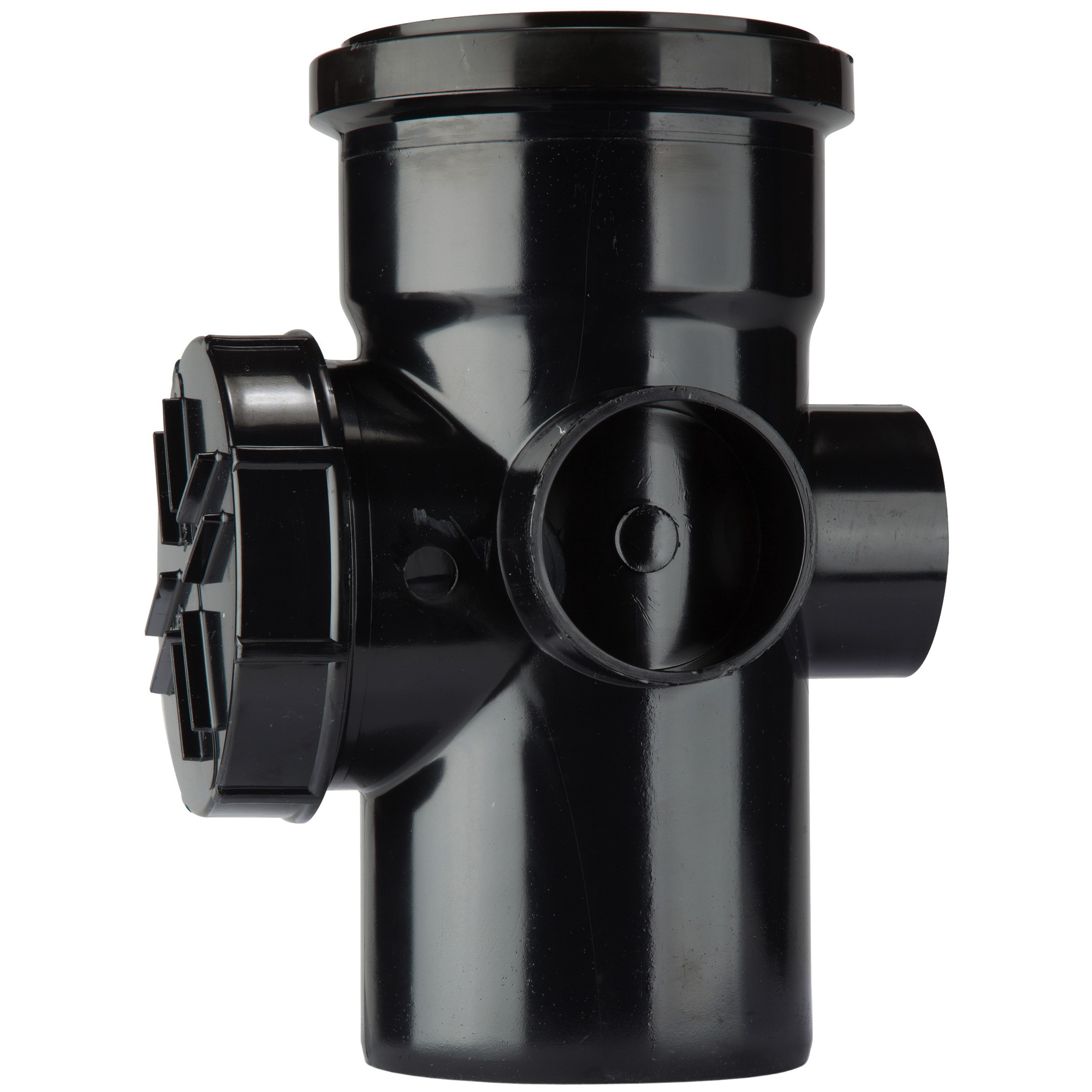 Polypipe 110mm Soil Single Socket Access Pipe - Black