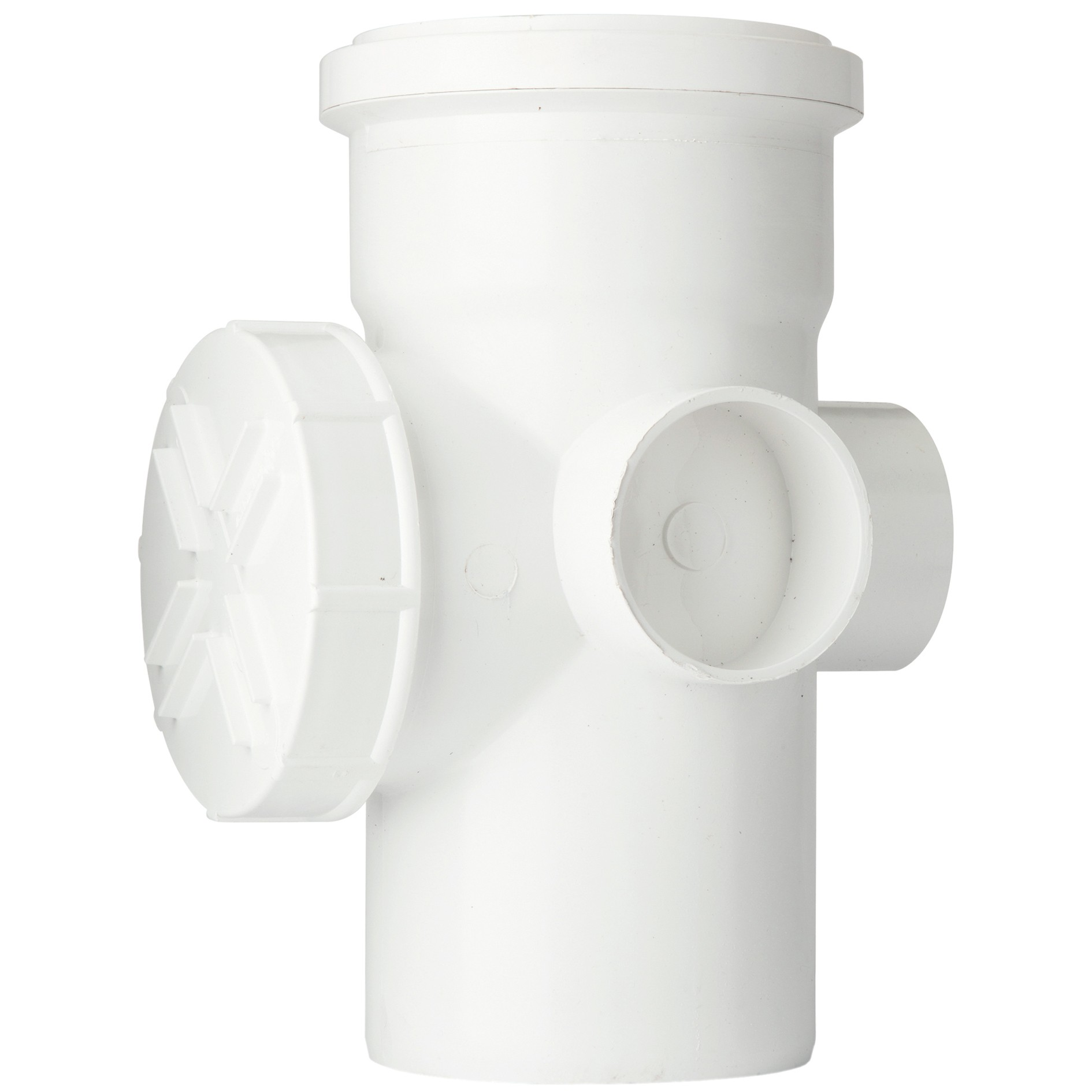 Polypipe 110mm Soil Single Socket Access Pipe - White