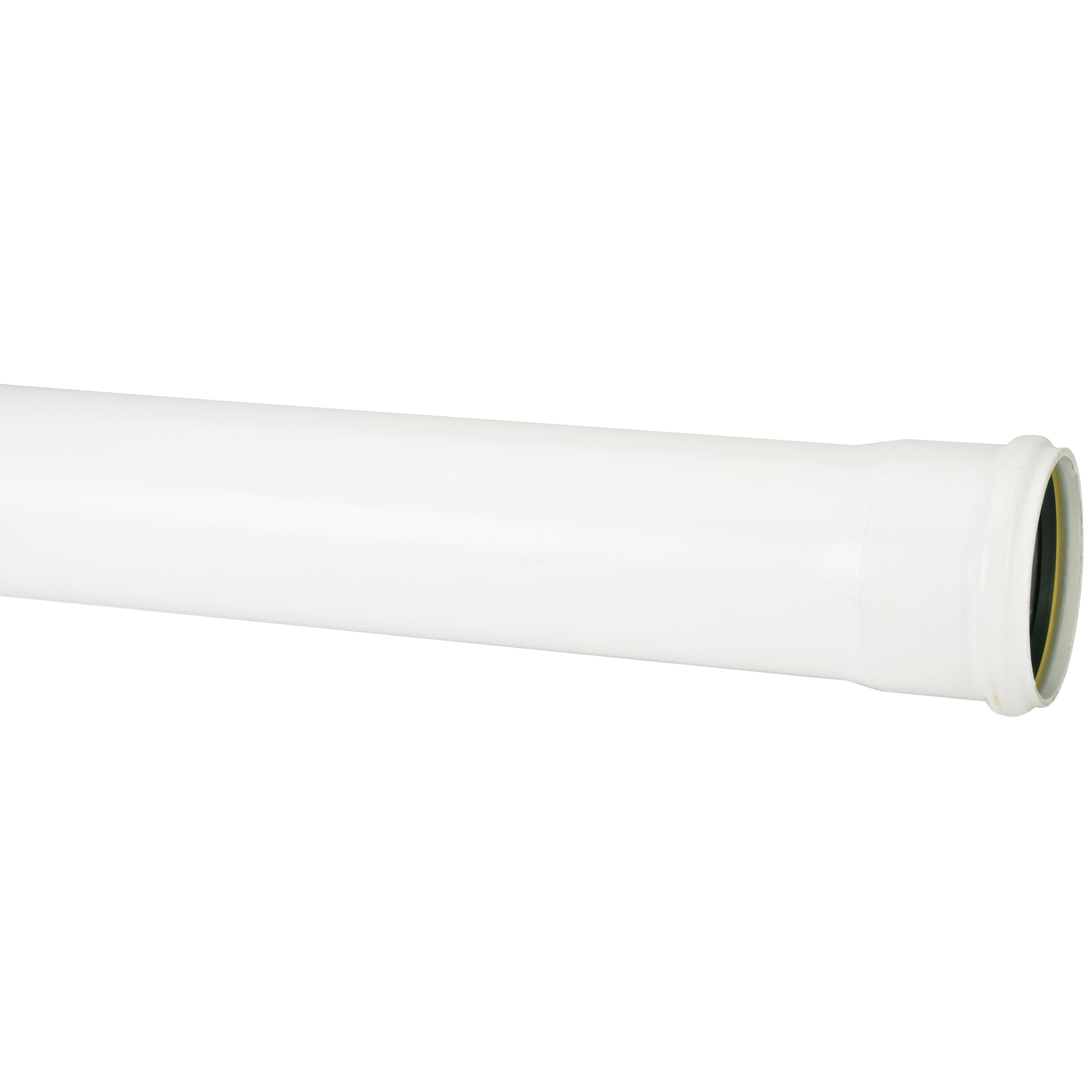 Polypipe 110mm Soil Single Socket Pipe - White, 3 metre